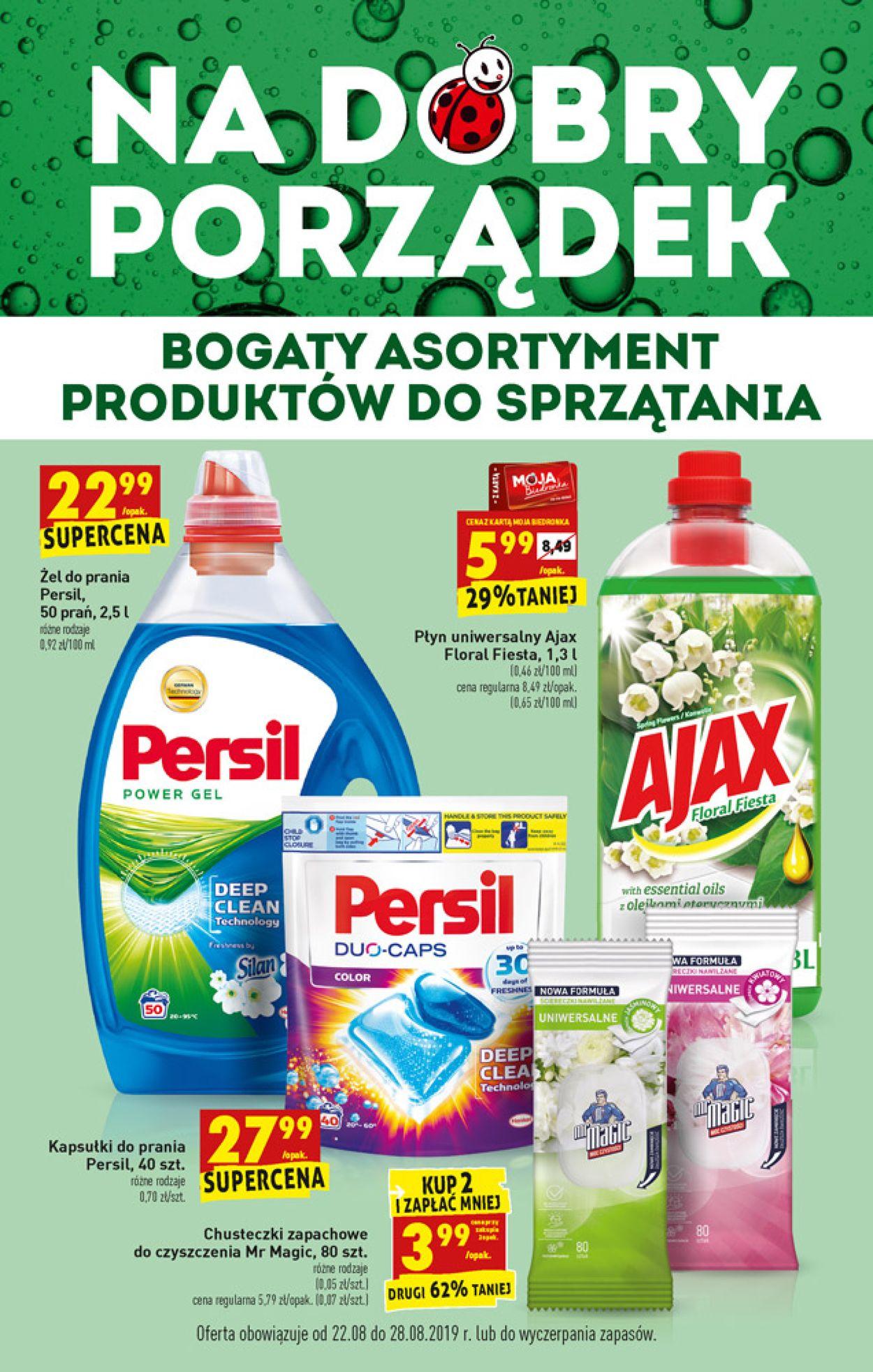 Gazetka promocyjna Biedronka - 22.08-28.08.2019