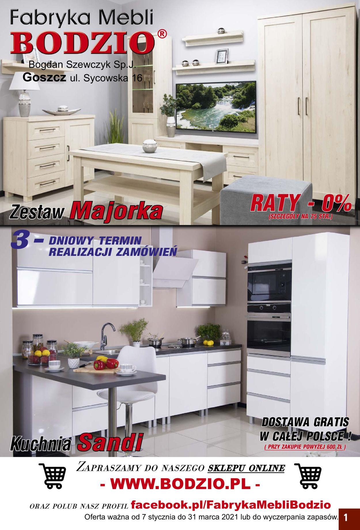 Gazetka promocyjna Bodzio - 07.01-31.03.2021
