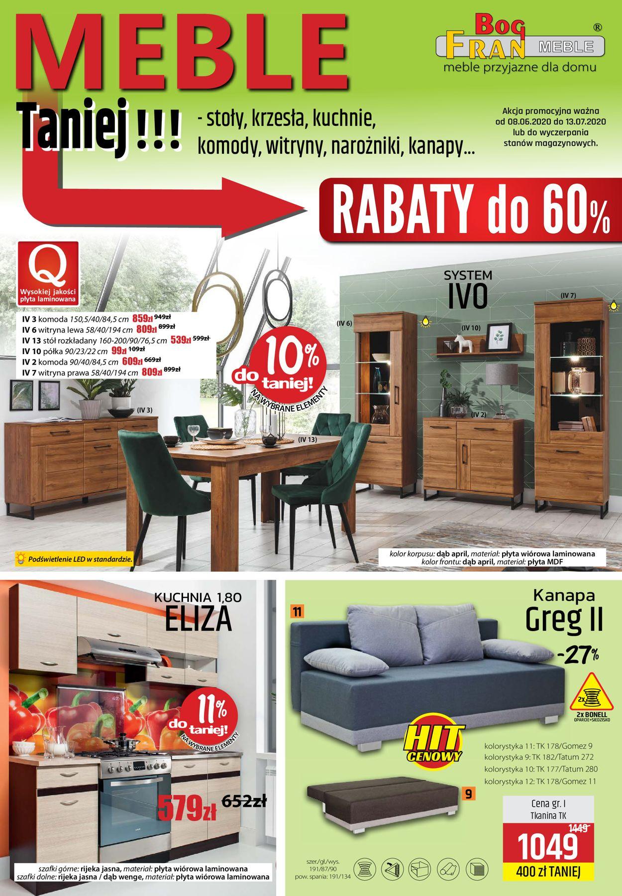Gazetka promocyjna BOG-FRAN - 08.06-13.07.2020