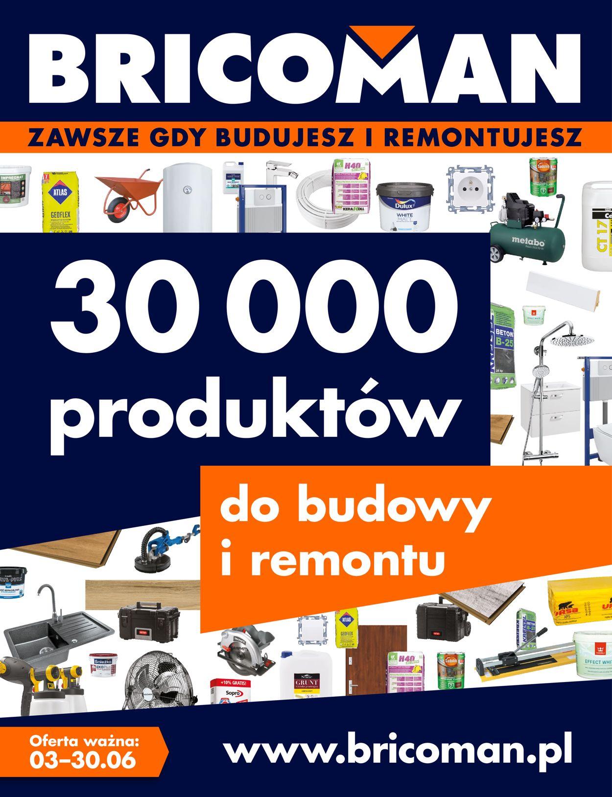 Gazetka promocyjna Bricoman - 03.06-30.06.2020