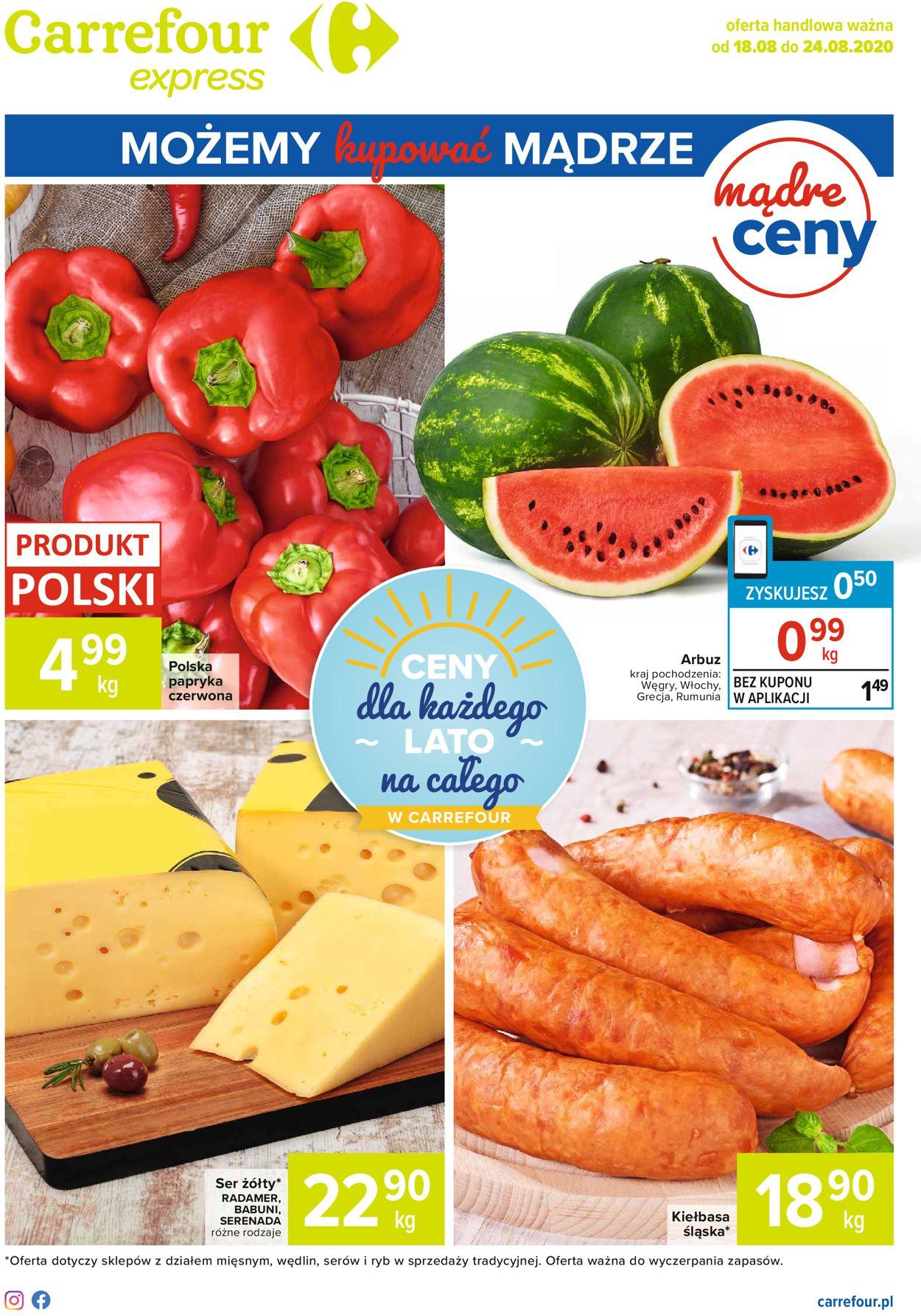 Gazetka promocyjna Carrefour Express - 18.08-24.08.2020