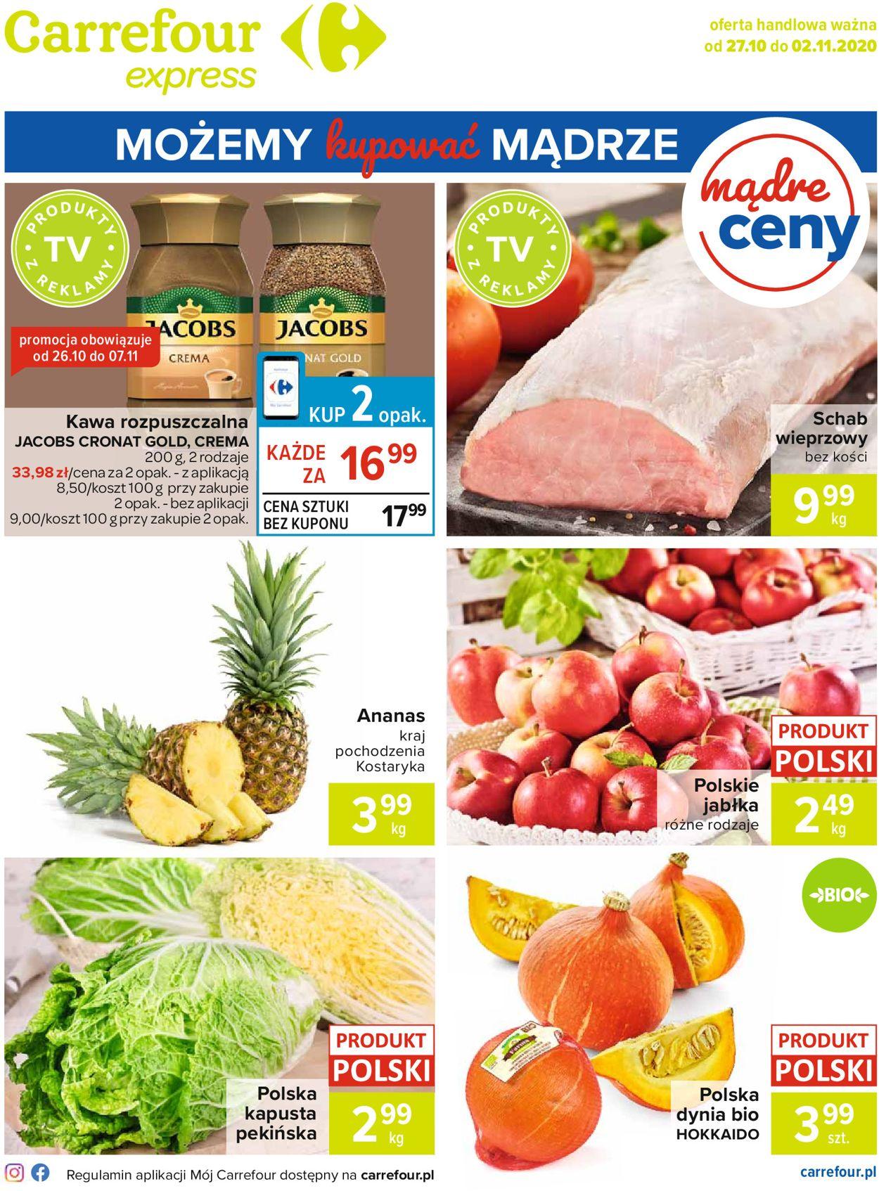 Gazetka promocyjna Carrefour Express - 27.10-02.11.2020