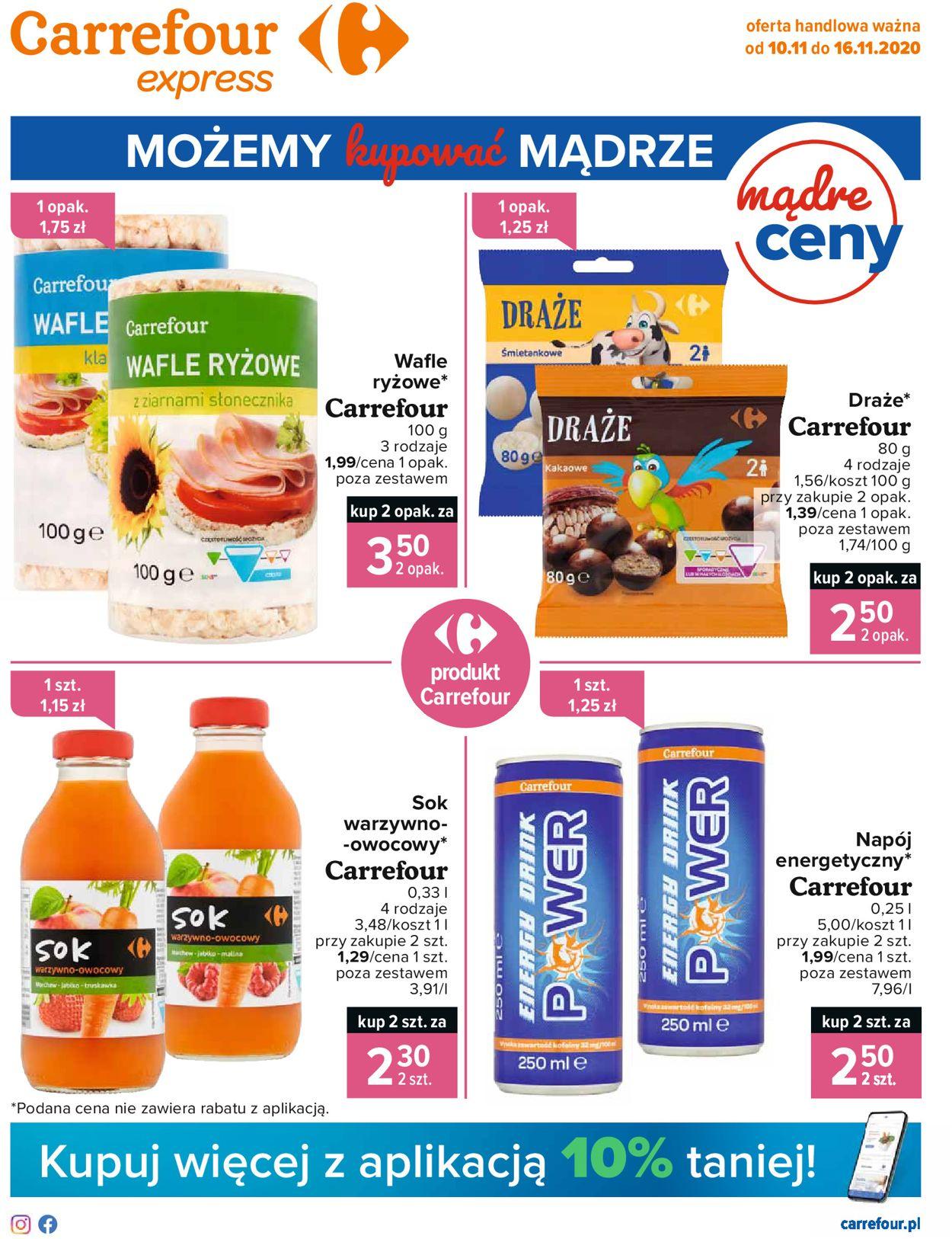 Gazetka promocyjna Carrefour Express - 10.11-16.11.2020