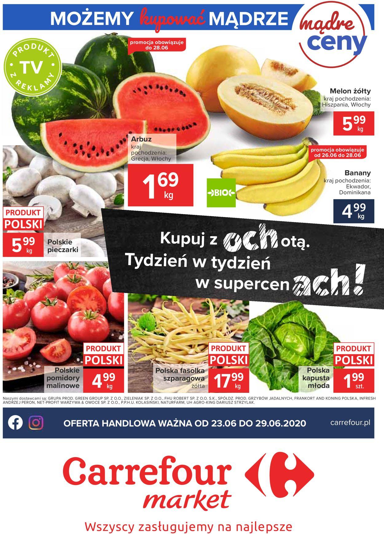 Gazetka promocyjna Carrefour Market - 23.06-29.06.2020