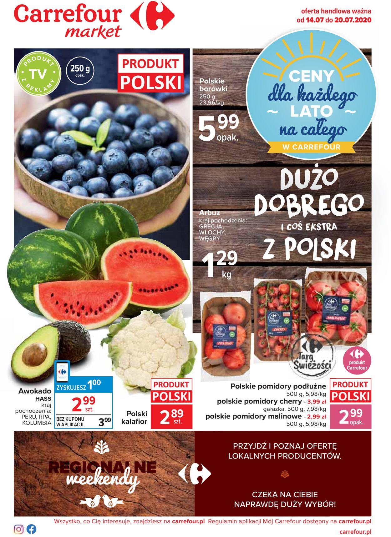 Gazetka promocyjna Carrefour Market - 14.07-20.07.2020