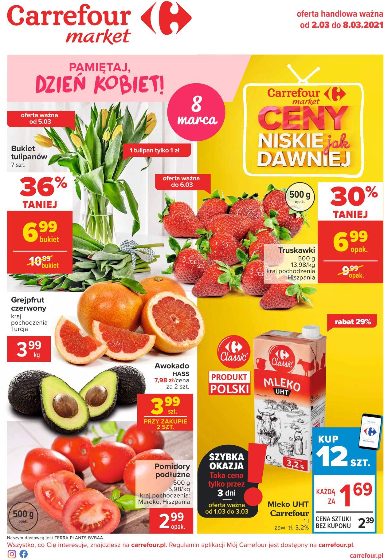 Gazetka promocyjna Carrefour Market Dzień Kobiet 2021 - 02.03-08.03.2021
