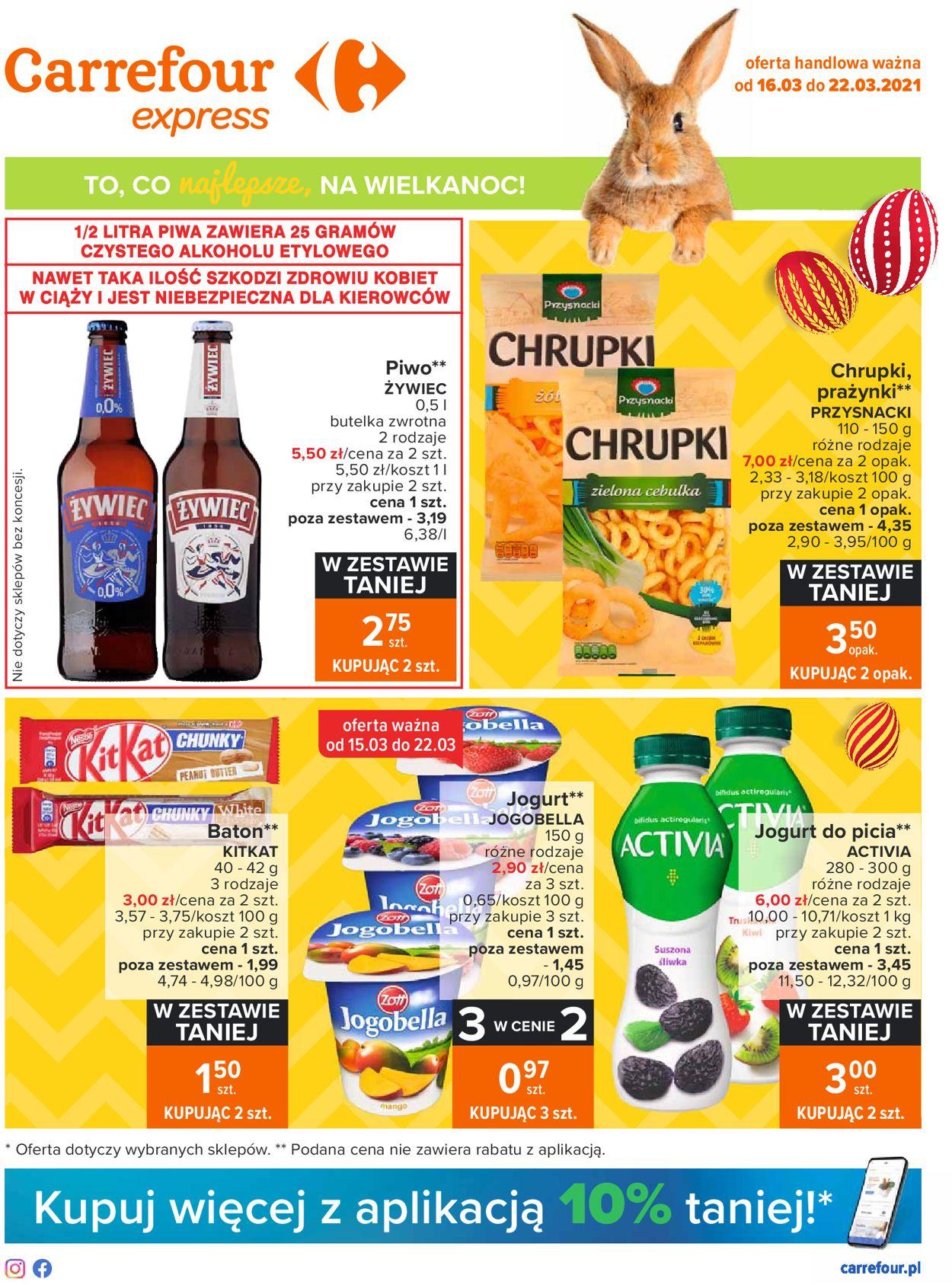 Gazetka promocyjna Carrefour Wielkanoc 2021 - 16.03-22.03.2021