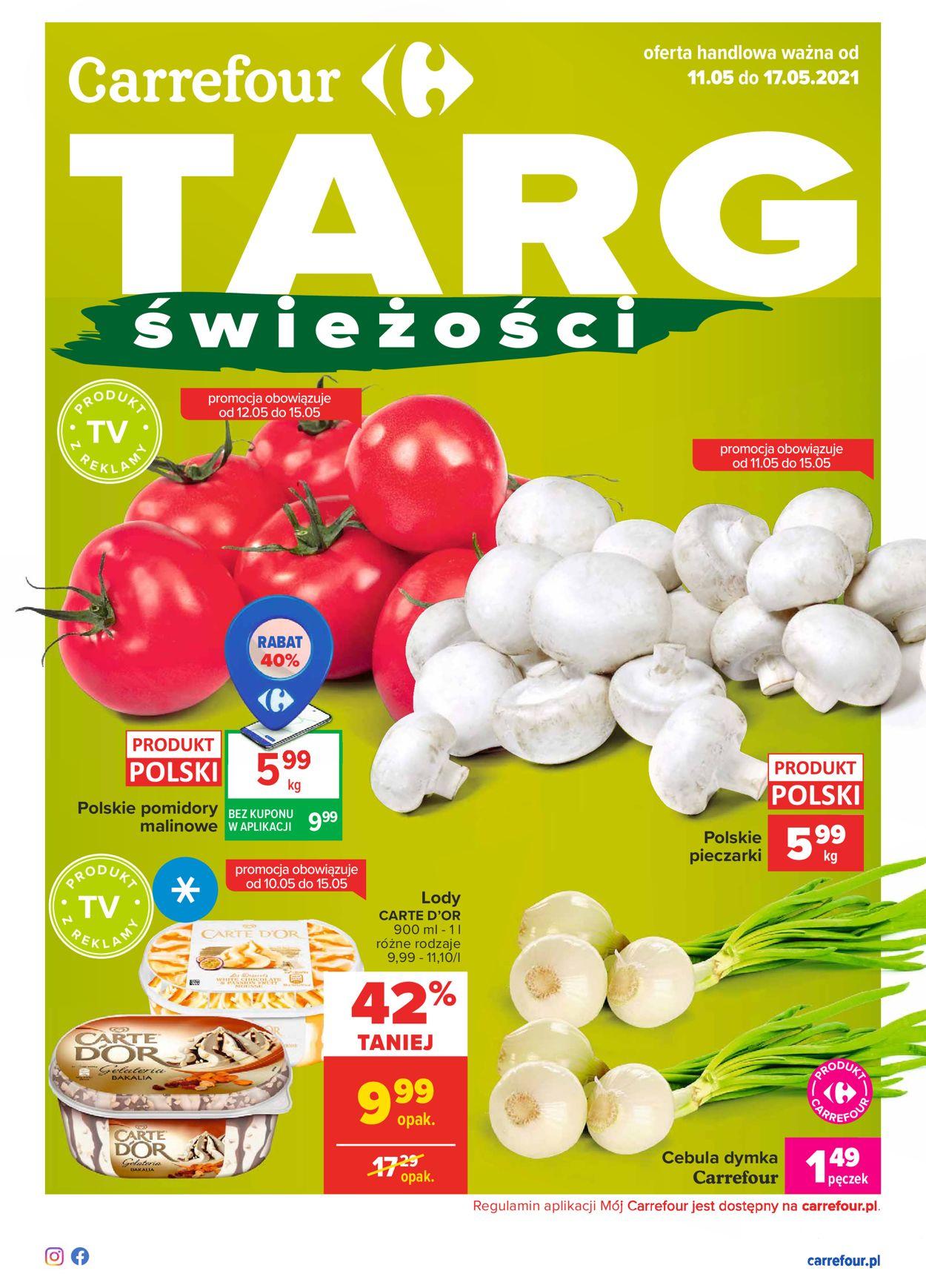 Gazetka promocyjna Carrefour Targi świeżości - 11.05-17.05.2021