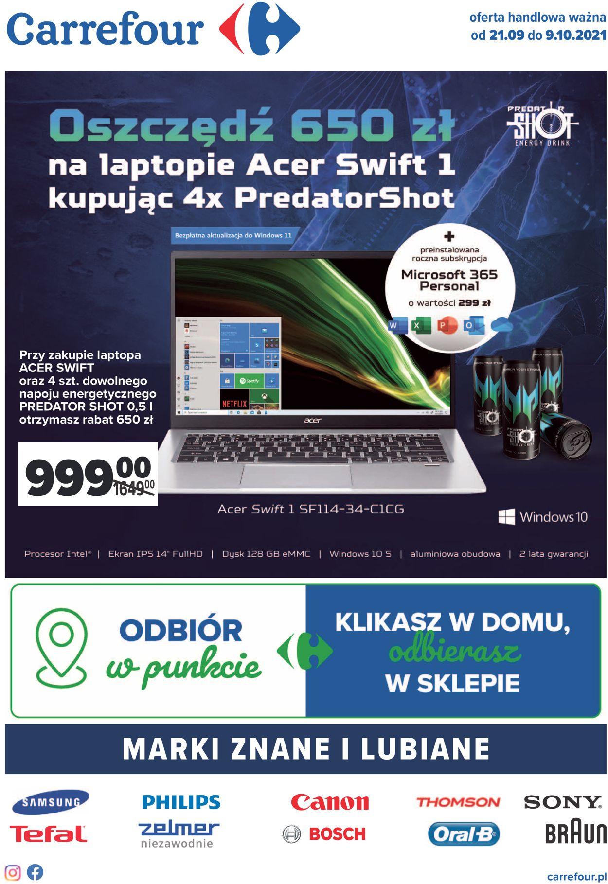 Gazetka promocyjna Carrefour - 21.09-09.10.2021