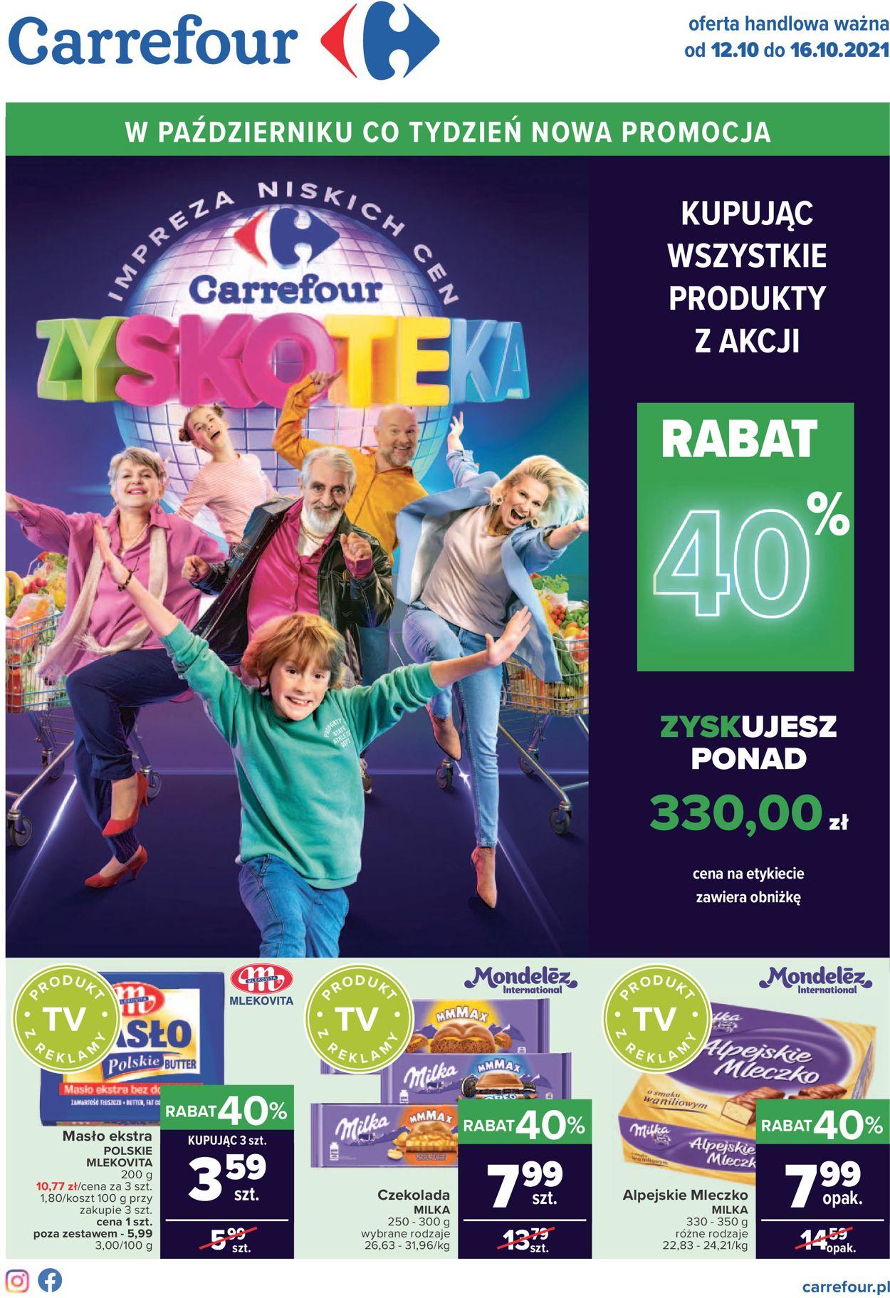 Gazetka promocyjna Carrefour Dzień Nauczyciela - 12.10-16.10.2021
