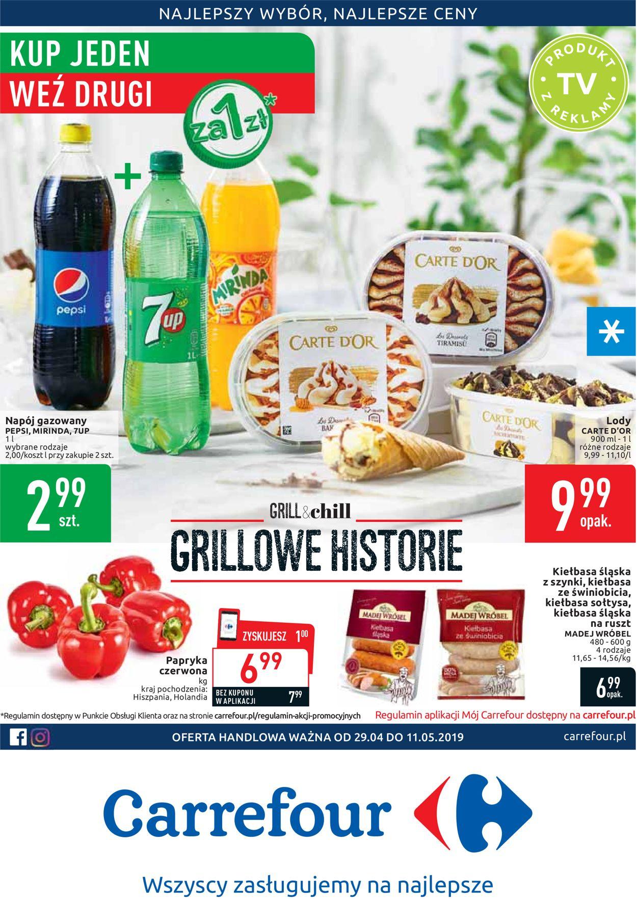 Gazetka promocyjna Carrefour - 29.04-11.05.2019