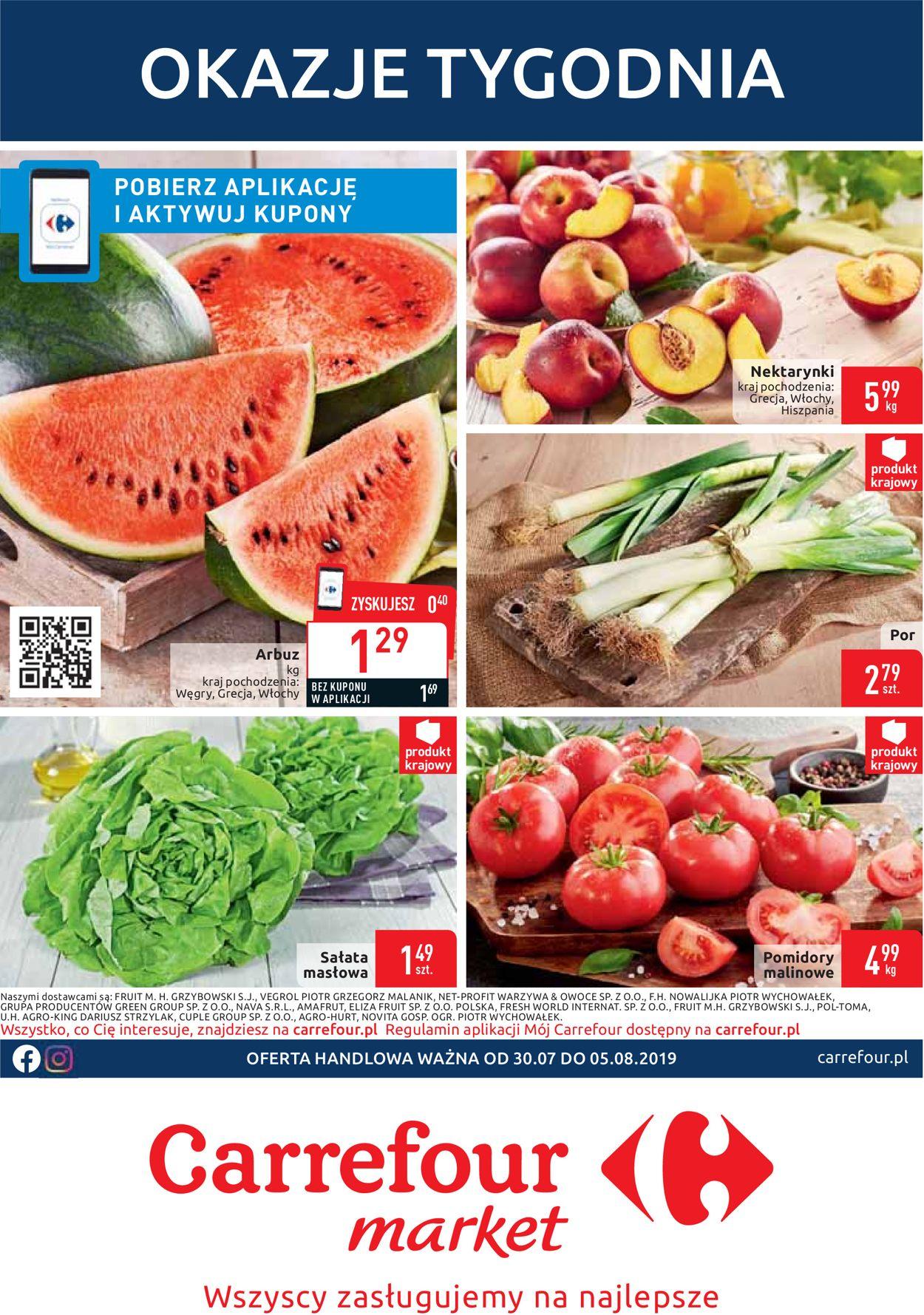 Gazetka promocyjna Carrefour - 30.07-05.08.2019