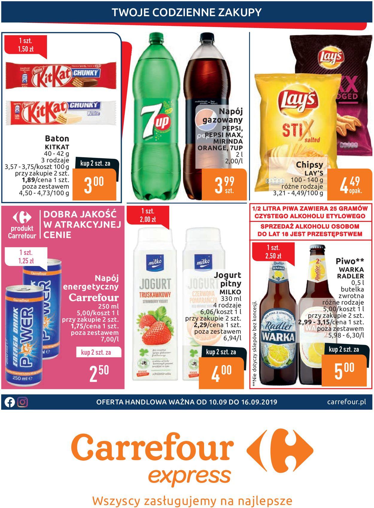 Gazetka promocyjna Carrefour - 10.09-16.09.2019