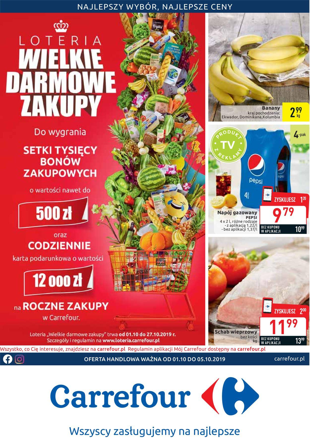 Gazetka promocyjna Carrefour - 01.10-05.10.2019