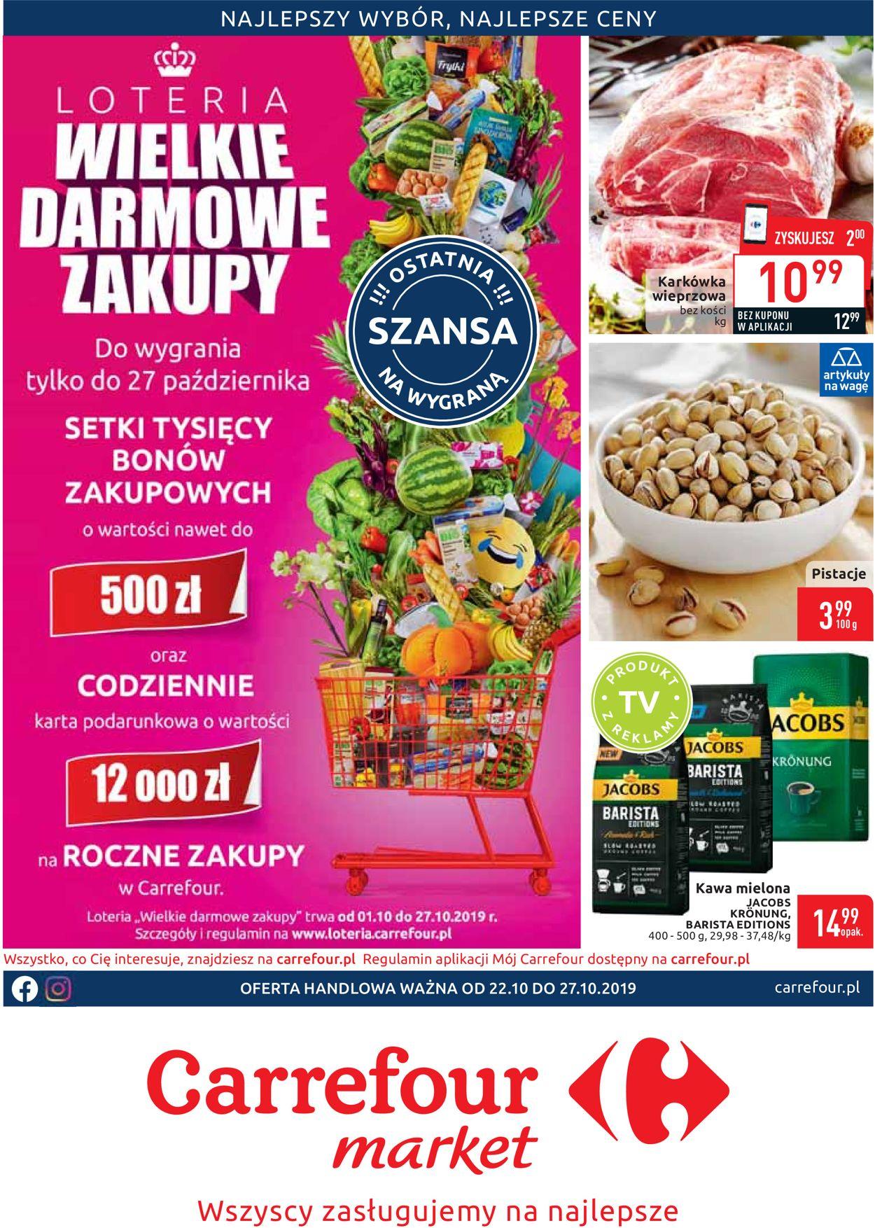 Gazetka promocyjna Carrefour - 22.10-27.10.2019