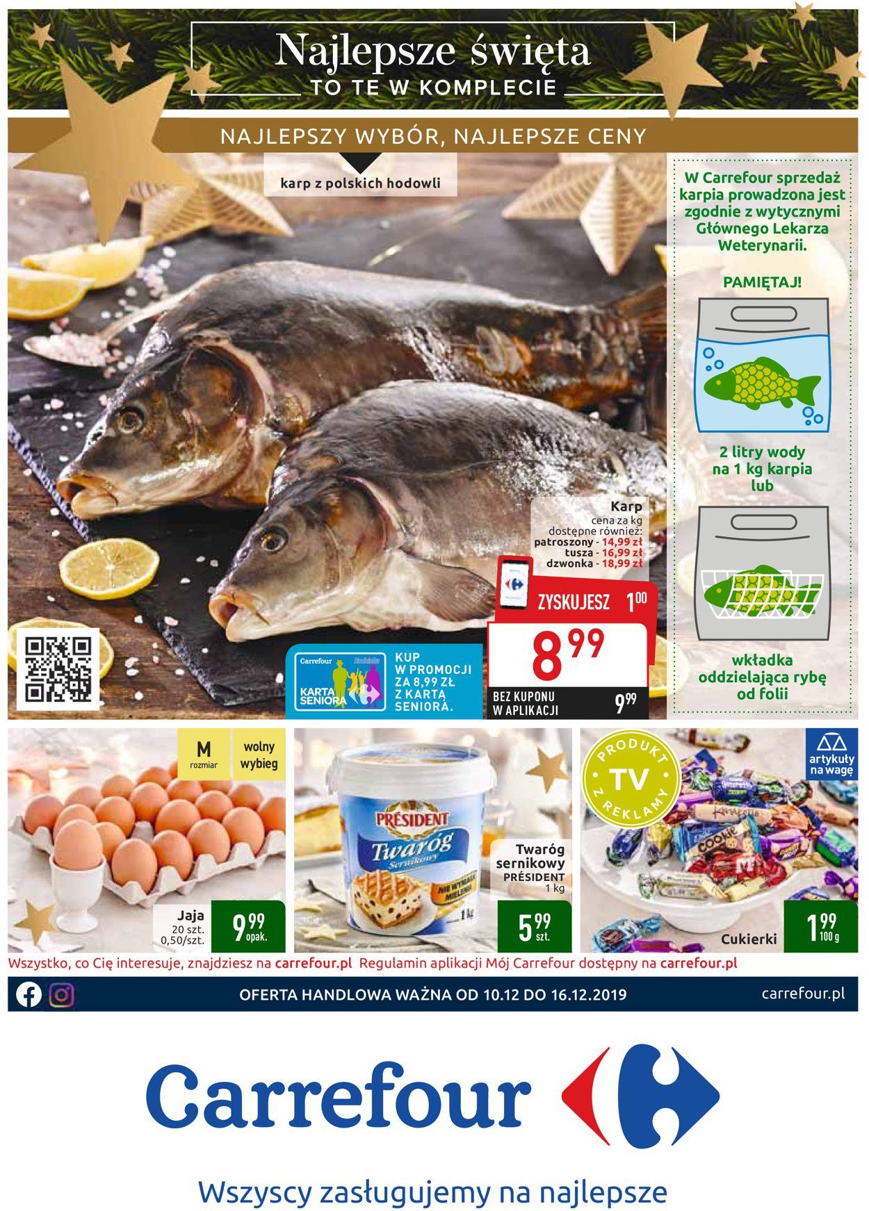 Gazetka promocyjna Carrefour - Gazetka Świąteczna 2019 - 10.12-16.12.2019
