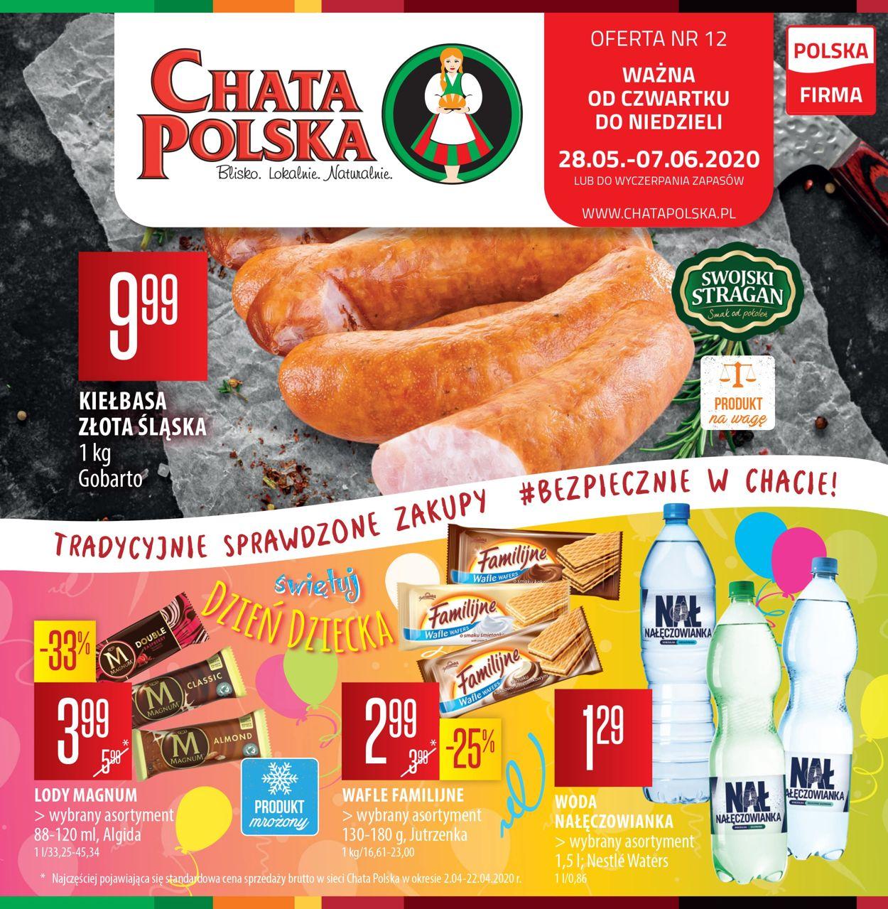 Gazetka promocyjna Chata Polska - 28.05-07.06.2020
