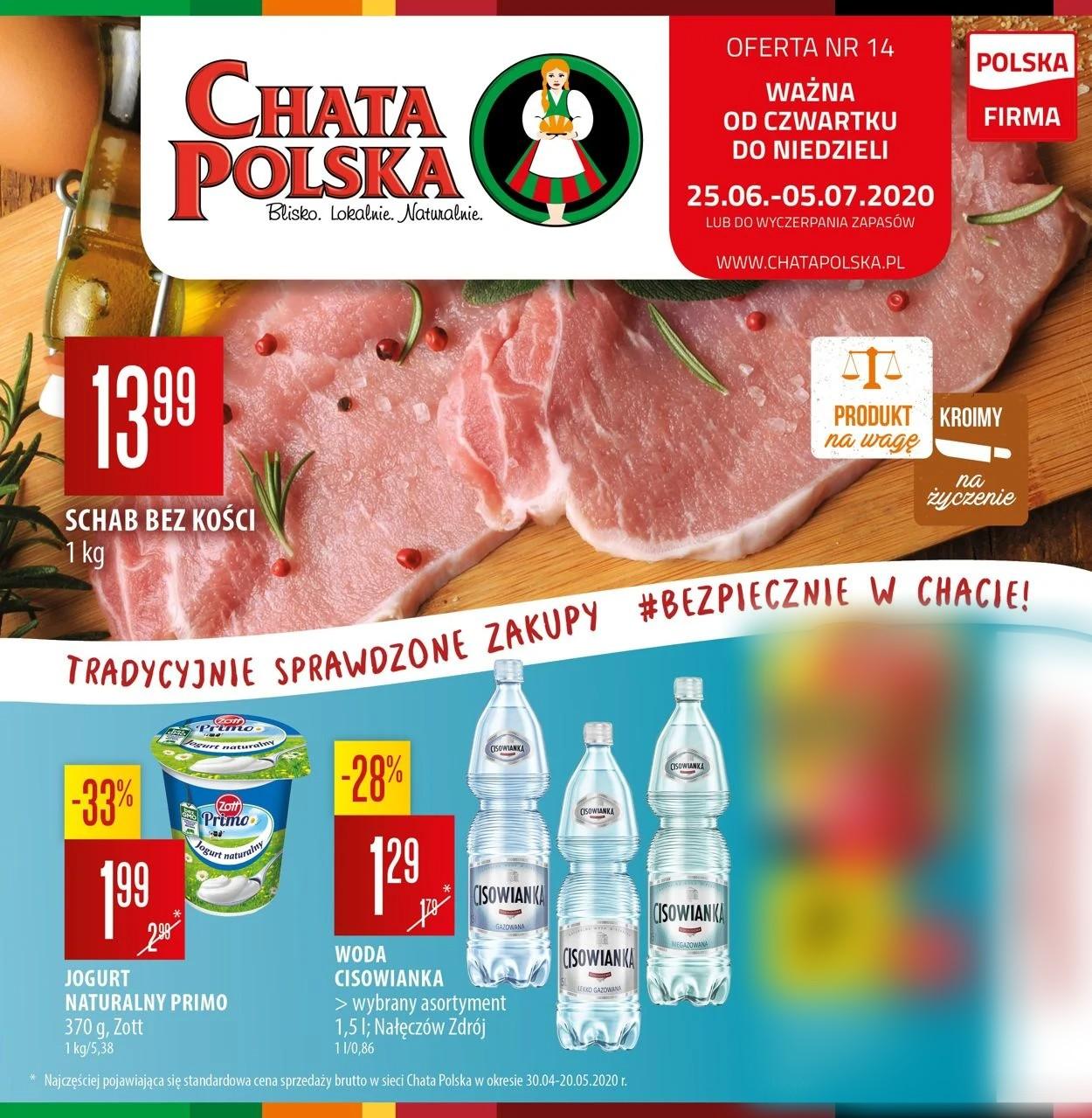 Gazetka promocyjna Chata Polska - 25.06-05.07.2020