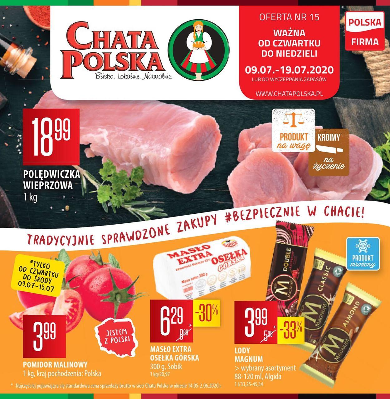 Gazetka promocyjna Chata Polska - 09.07-19.07.2020