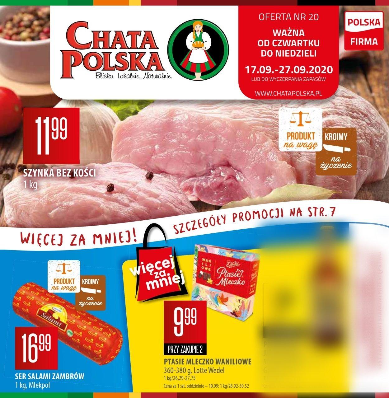 Gazetka promocyjna Chata Polska - 17.09-27.09.2020