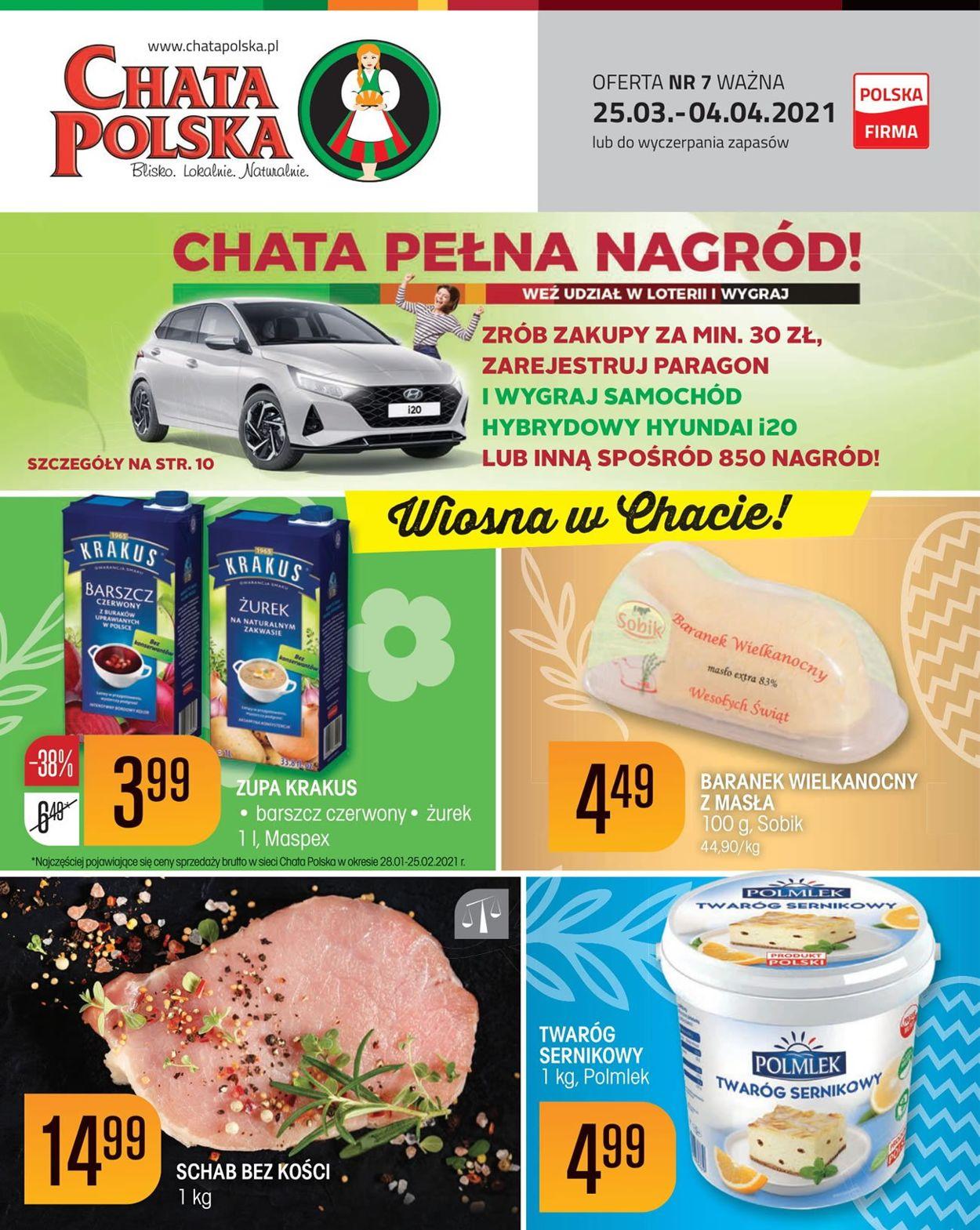 Gazetka promocyjna Chata Polska Wielkanoc 2021! - 25.03-04.04.2021