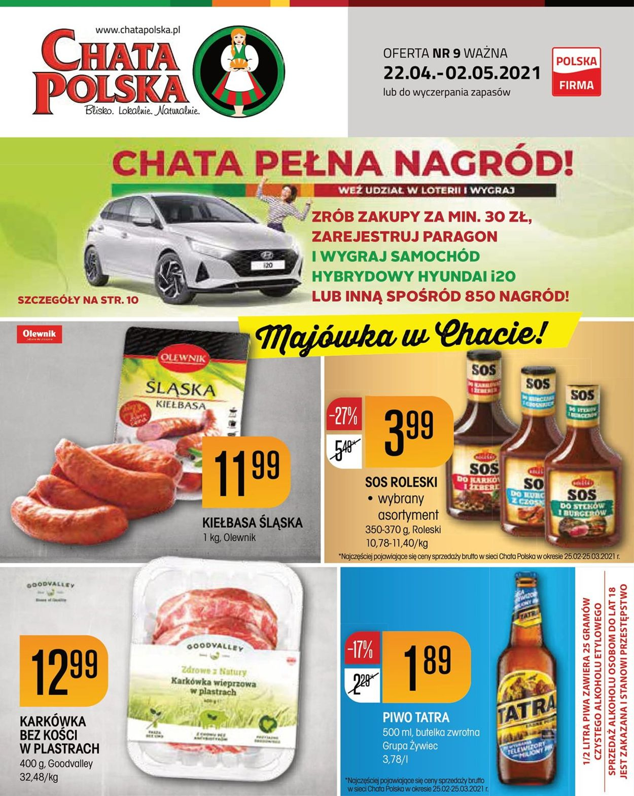 Gazetka promocyjna Chata Polska - 22.04-02.05.2021