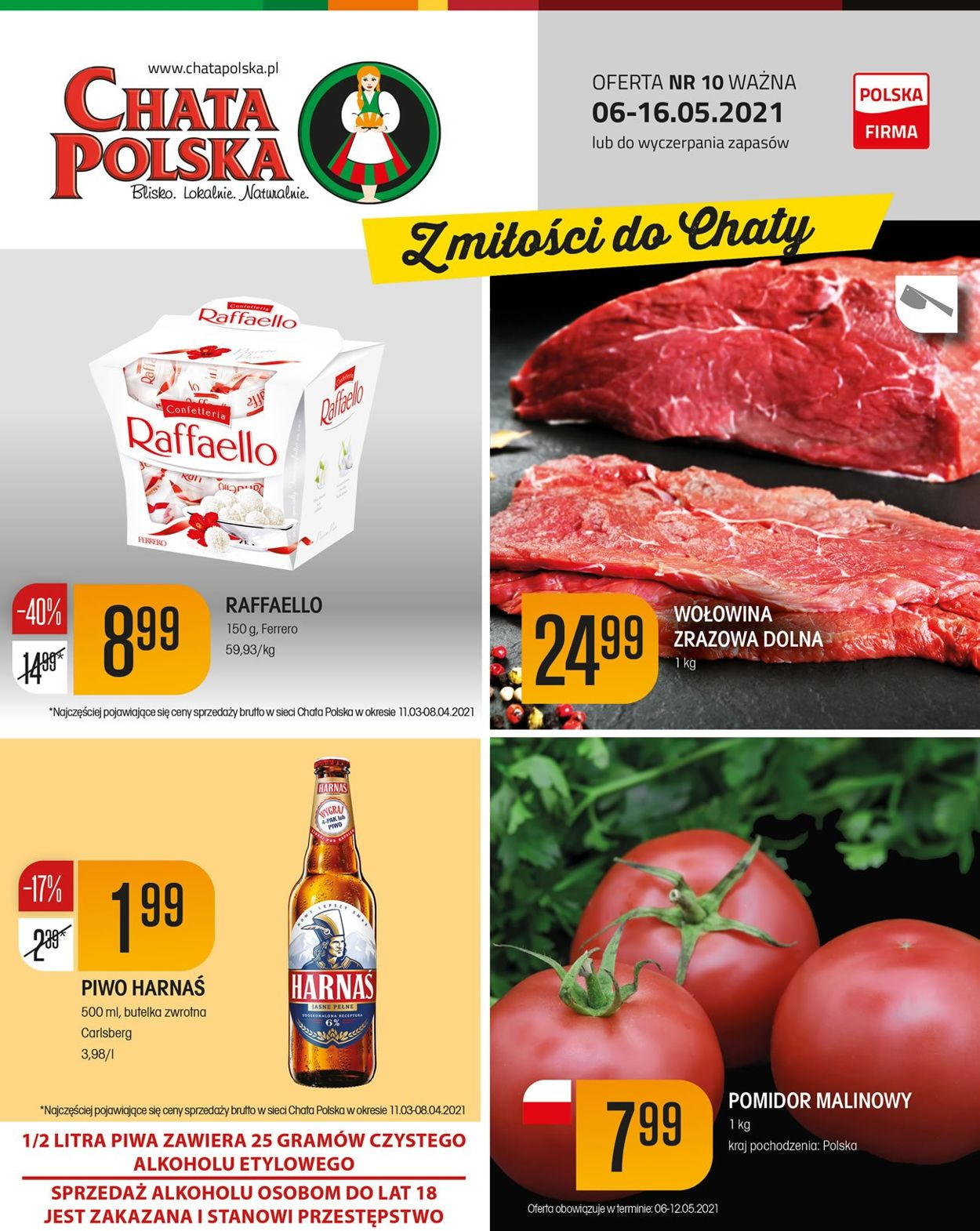 Gazetka promocyjna Chata Polska - 06.05-16.05.2021