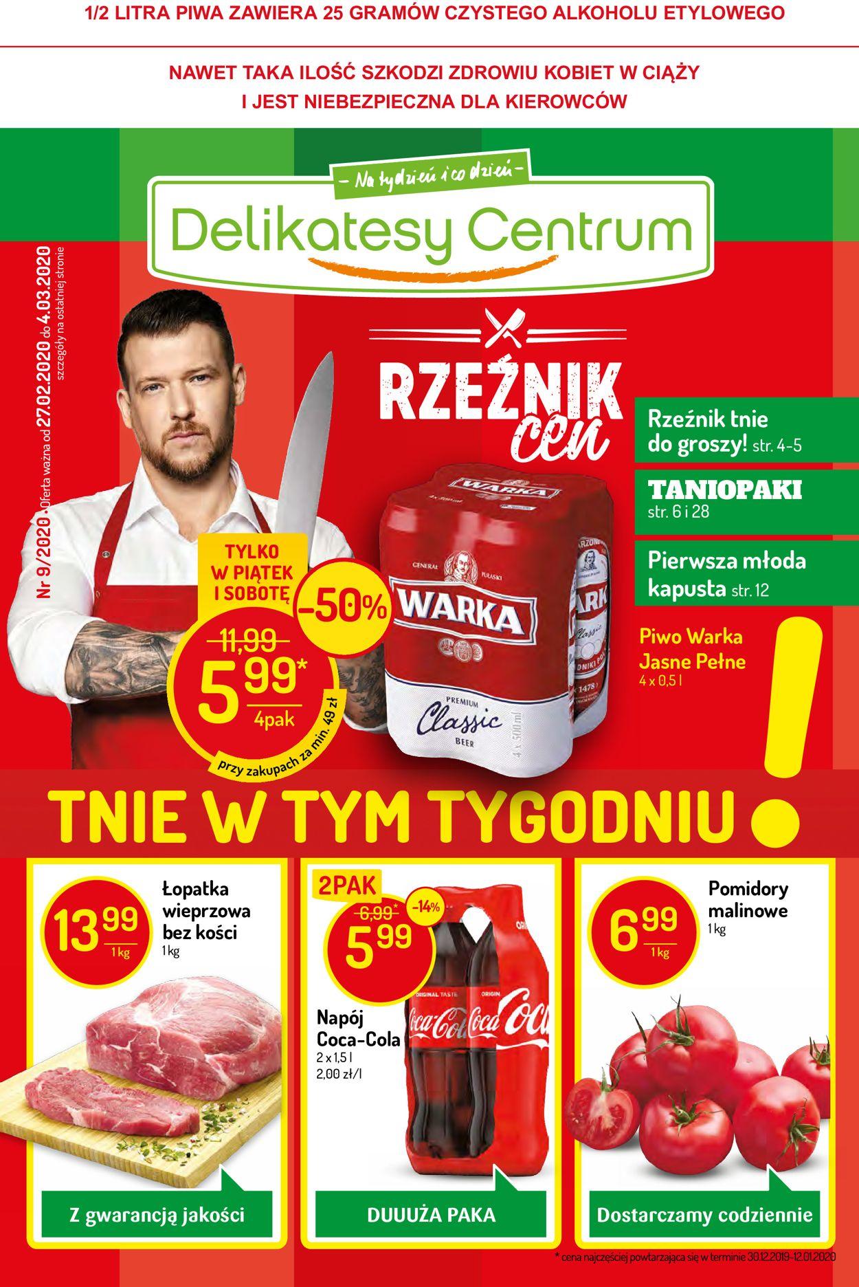 Gazetka promocyjna Delikatesy Centrum - 27.02-04.03.2020