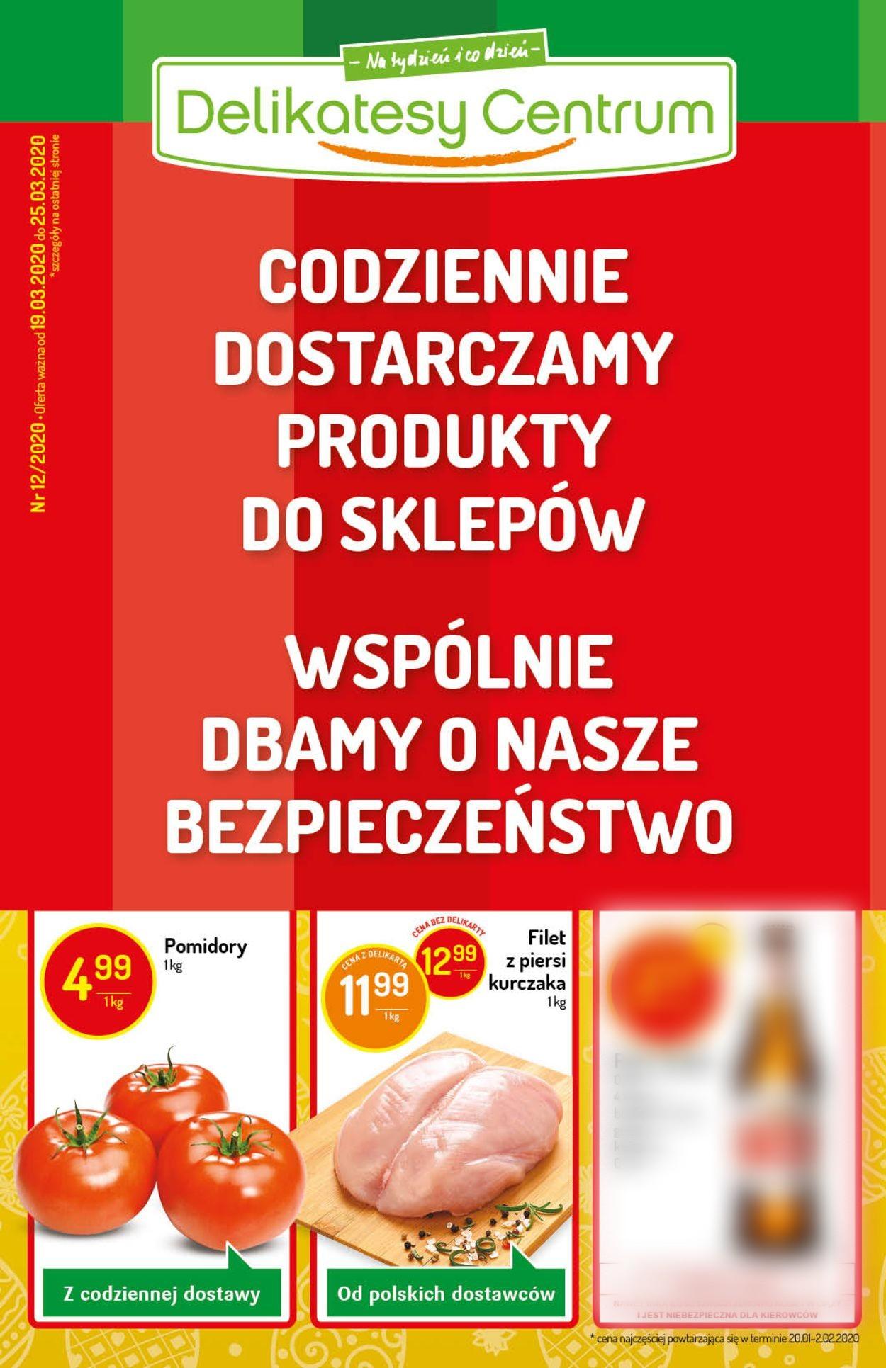 Gazetka promocyjna Delikatesy Centrum - 19.03-25.03.2020