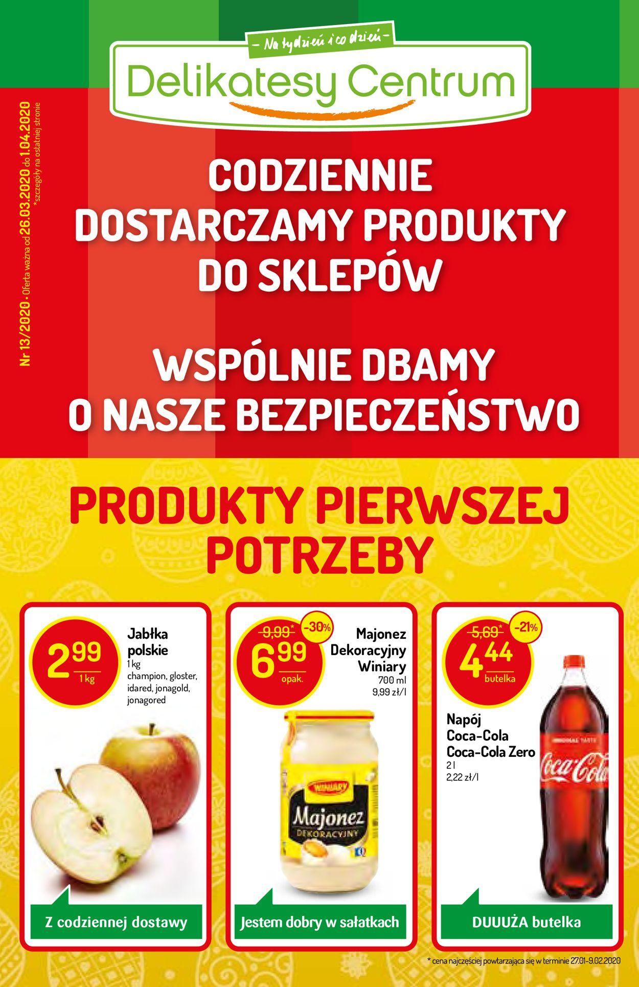 Gazetka promocyjna Delikatesy Centrum - 26.03-01.04.2020
