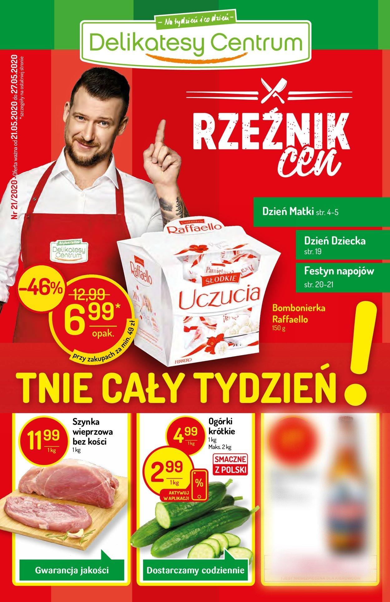 Gazetka promocyjna Delikatesy Centrum - 21.05-27.05.2020