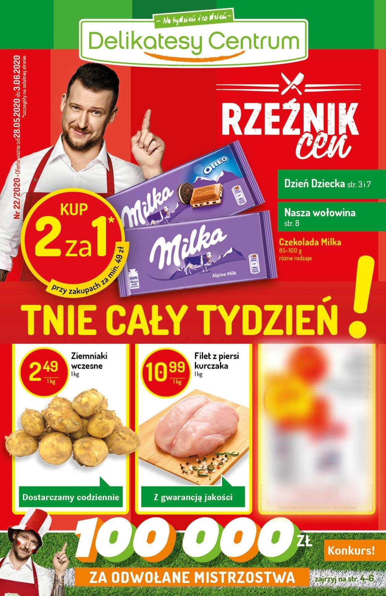 Gazetka promocyjna Delikatesy Centrum - 28.05-03.06.2020
