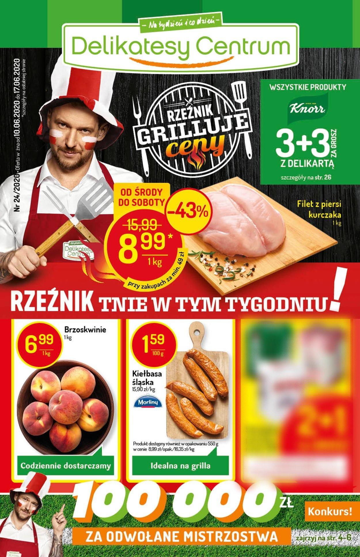 Gazetka promocyjna Delikatesy Centrum - 10.06-17.06.2020