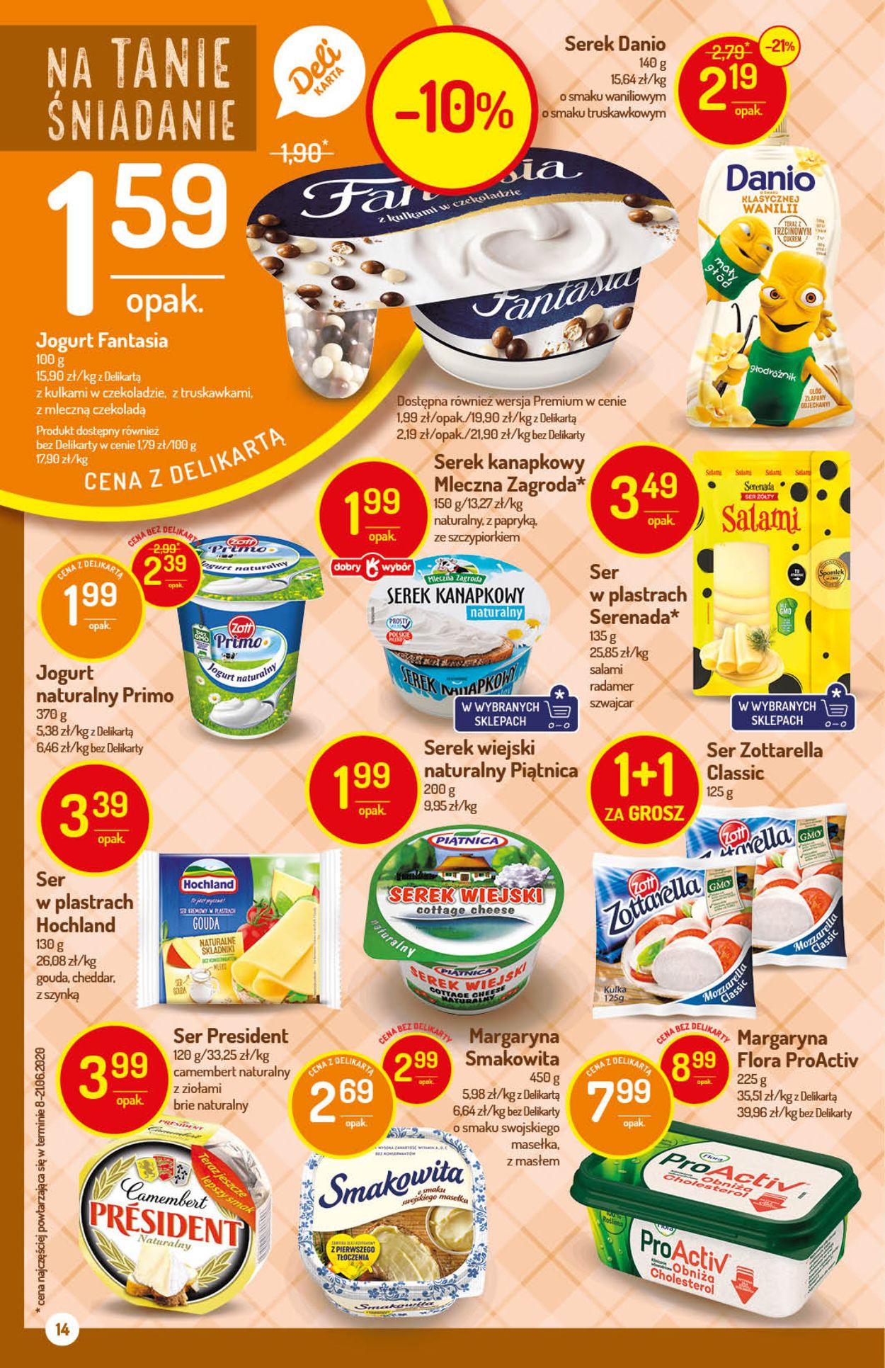Gazetka promocyjna Delikatesy Centrum - 06.08-12.08.2020 (Strona 14)
