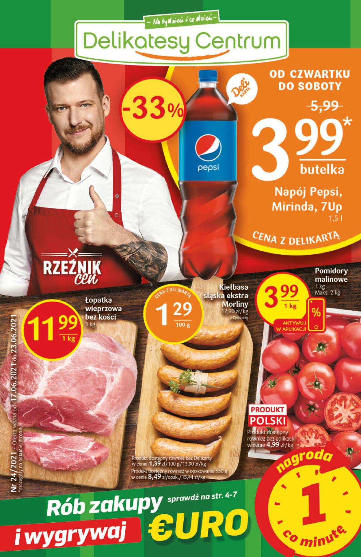 Gazetka promocyjna Delikatesy Centrum - 17.06-23.06.2021
