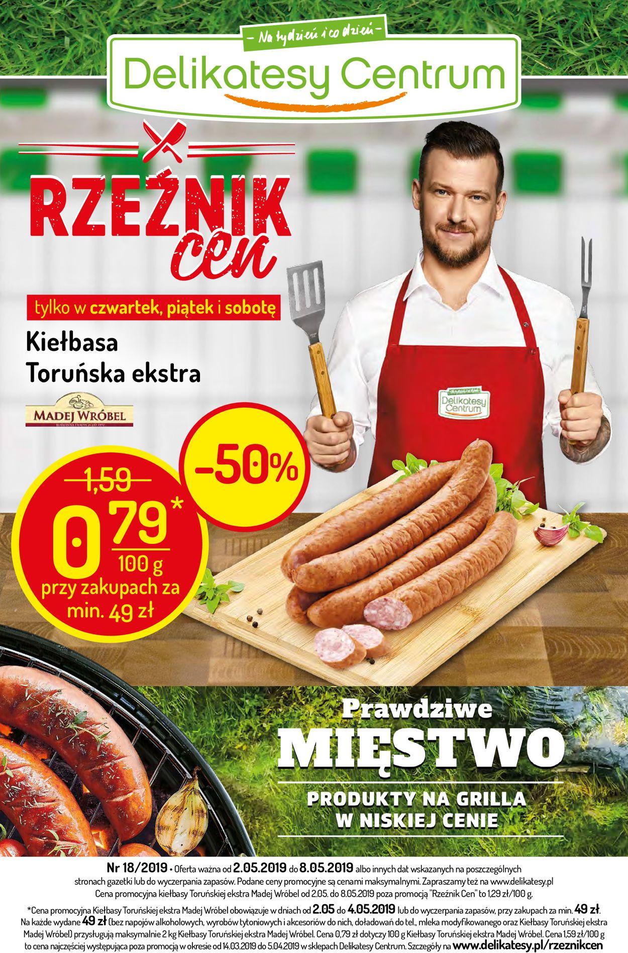 Gazetka promocyjna Delikatesy Centrum - 02.05-08.05.2019