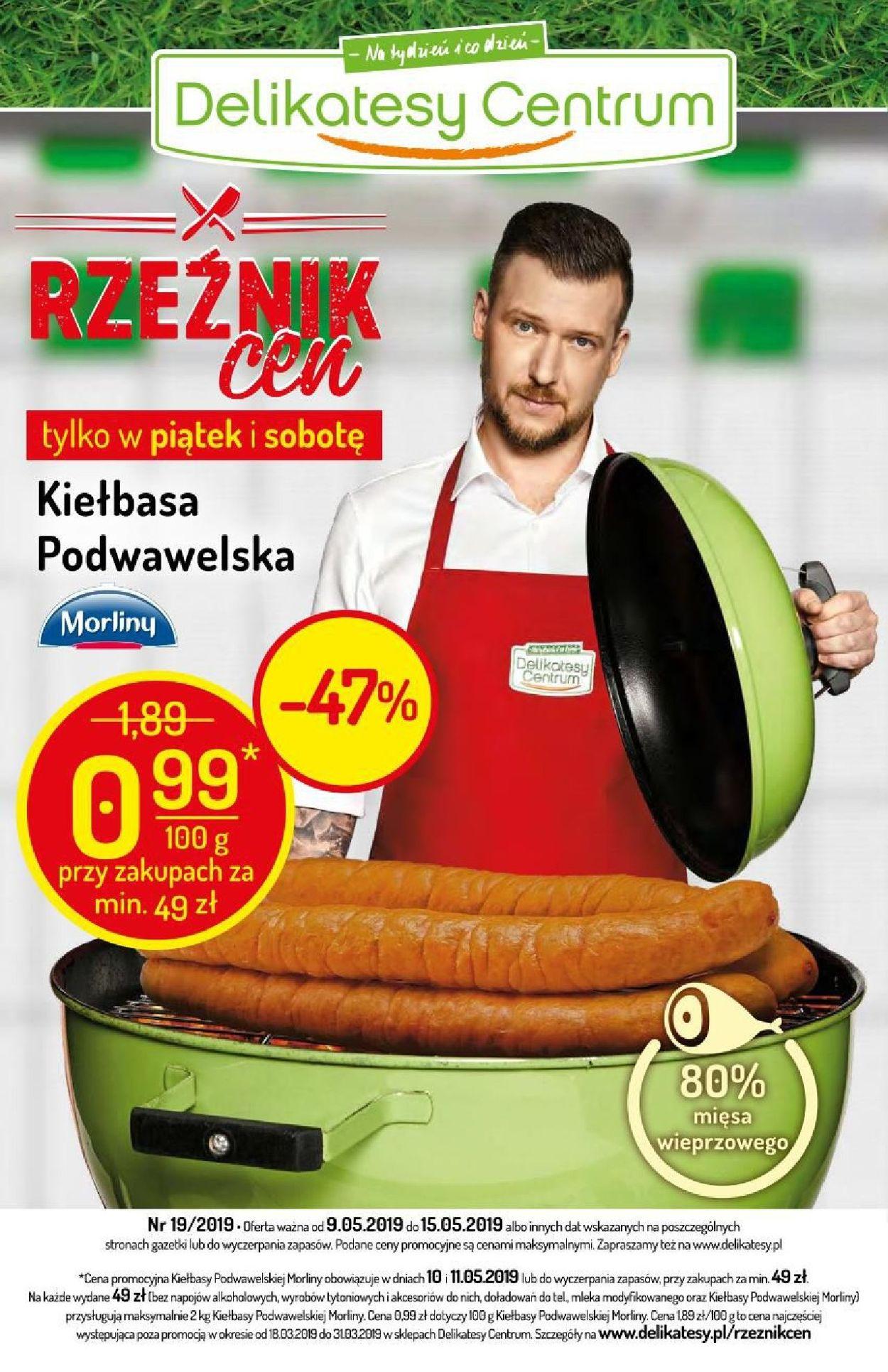 Gazetka promocyjna Delikatesy Centrum - 09.05-15.05.2019