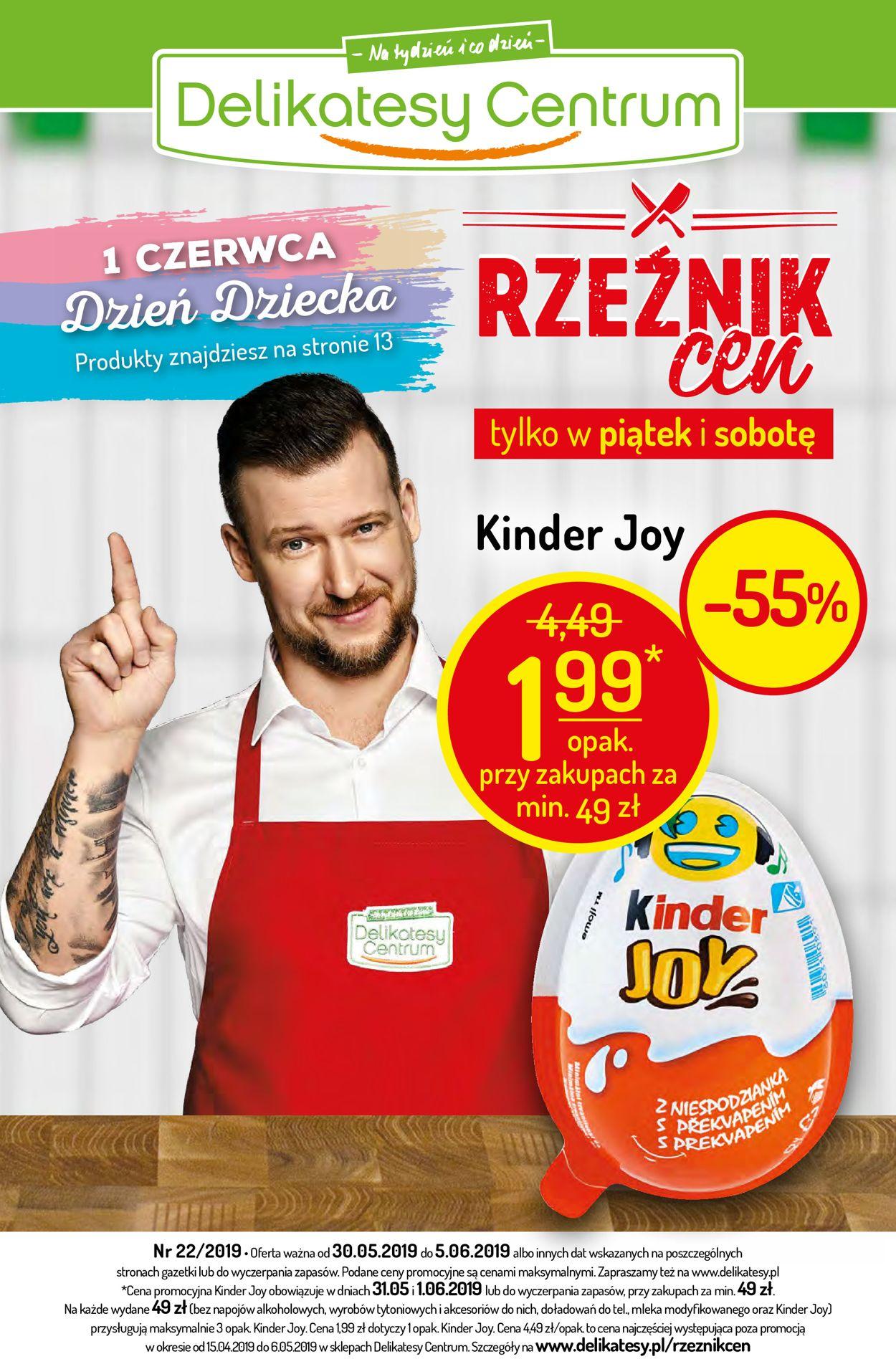 Gazetka promocyjna Delikatesy Centrum - 30.05-05.06.2019