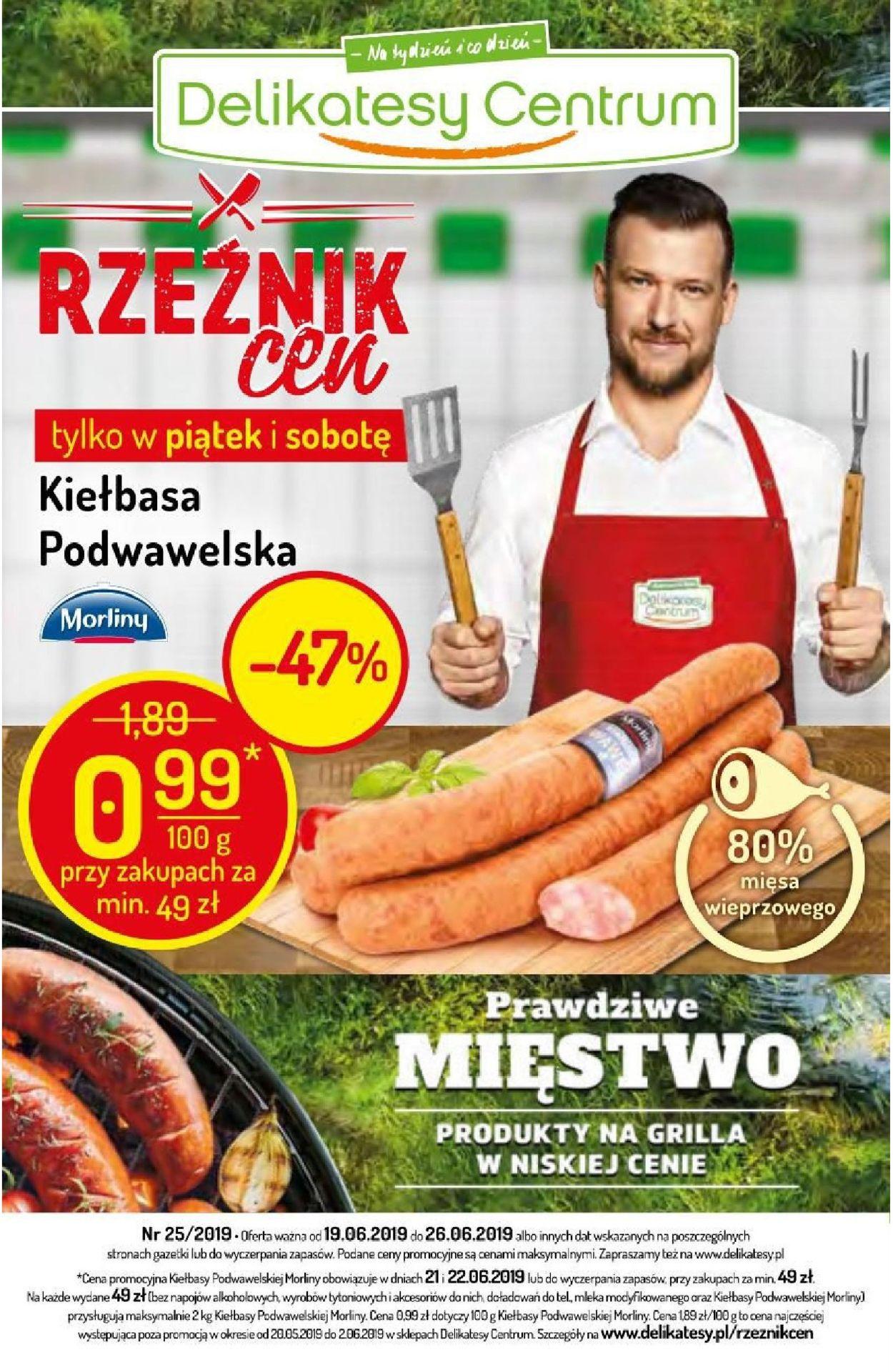 Gazetka promocyjna Delikatesy Centrum - 19.06-26.06.2019