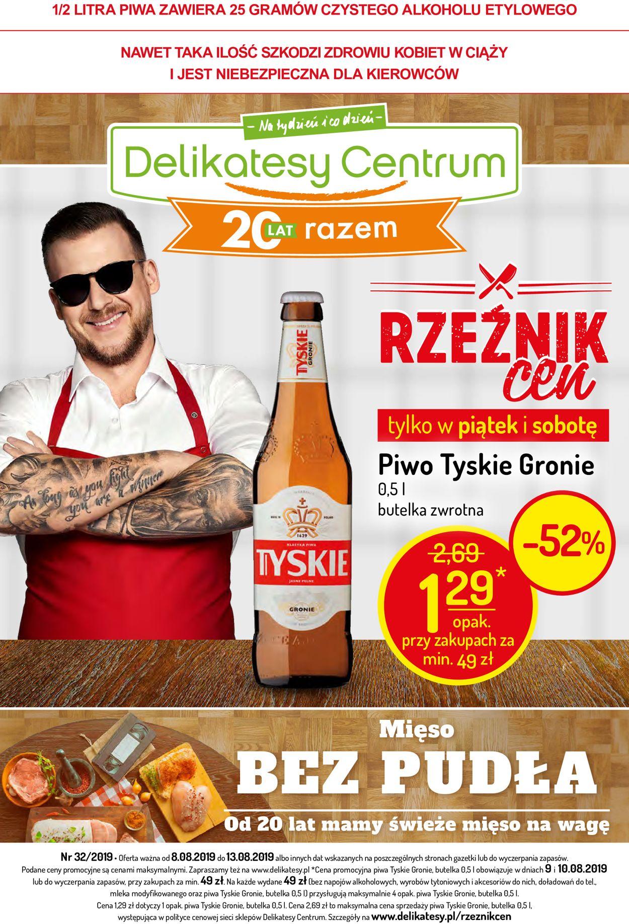 Gazetka promocyjna Delikatesy Centrum - 08.08-13.08.2019