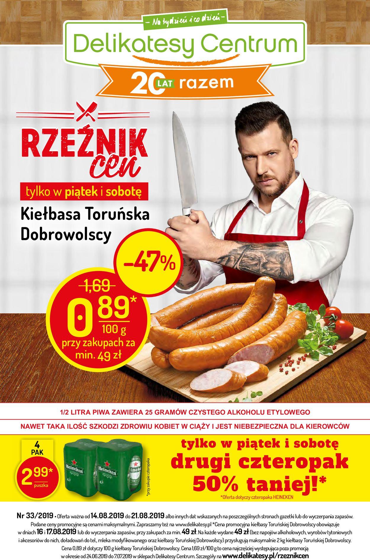 Gazetka promocyjna Delikatesy Centrum - 14.08-21.08.2019