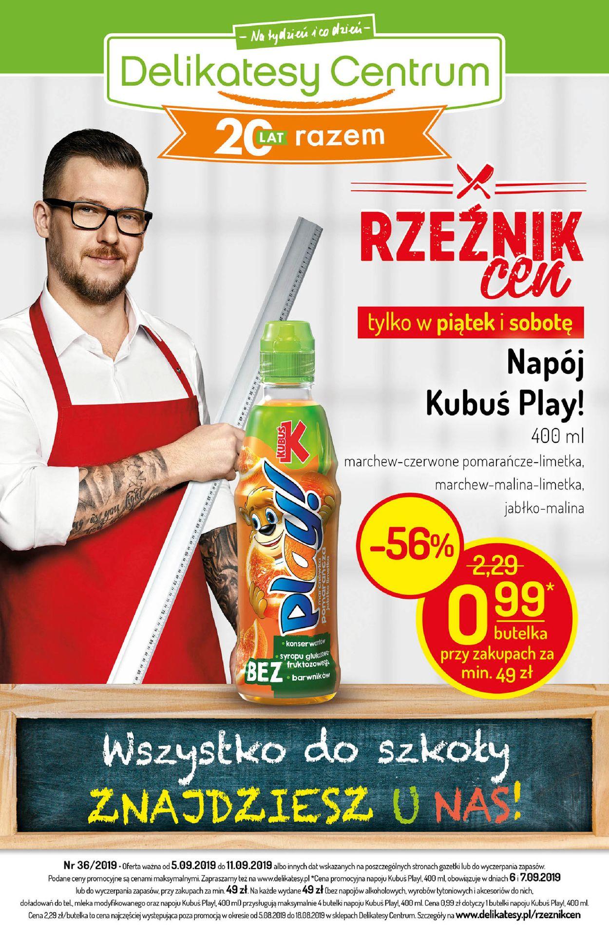 Gazetka promocyjna Delikatesy Centrum - 05.09-11.09.2019