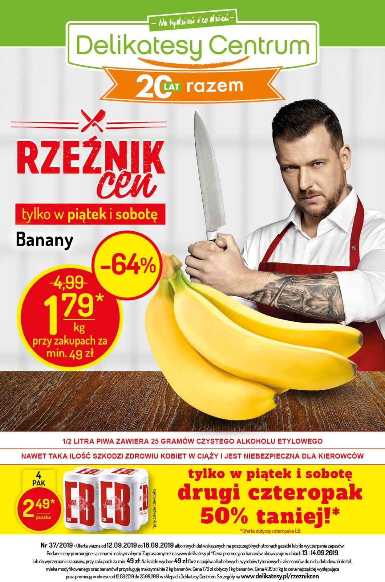 Gazetka promocyjna Delikatesy Centrum - 12.09-18.09.2019