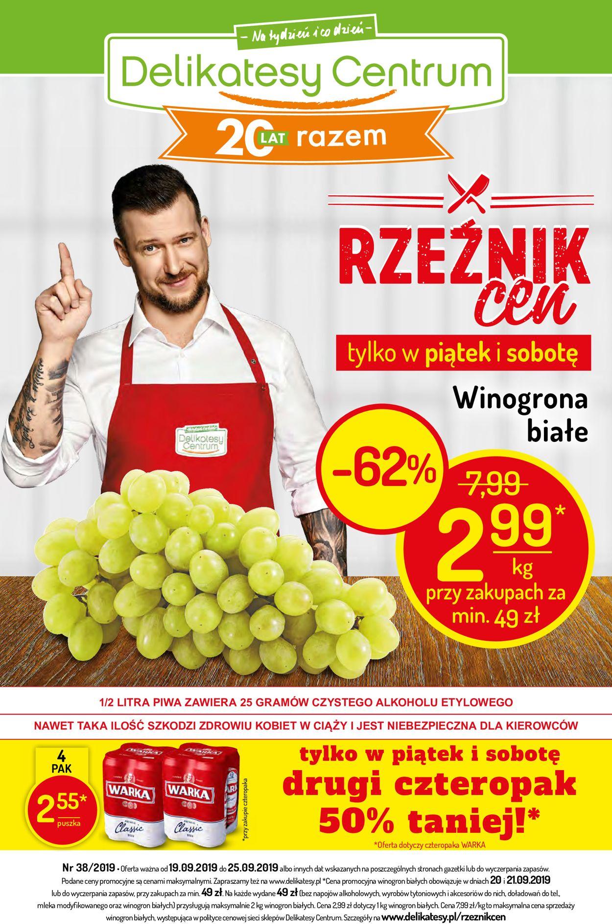 Gazetka promocyjna Delikatesy Centrum - 19.09-25.09.2019