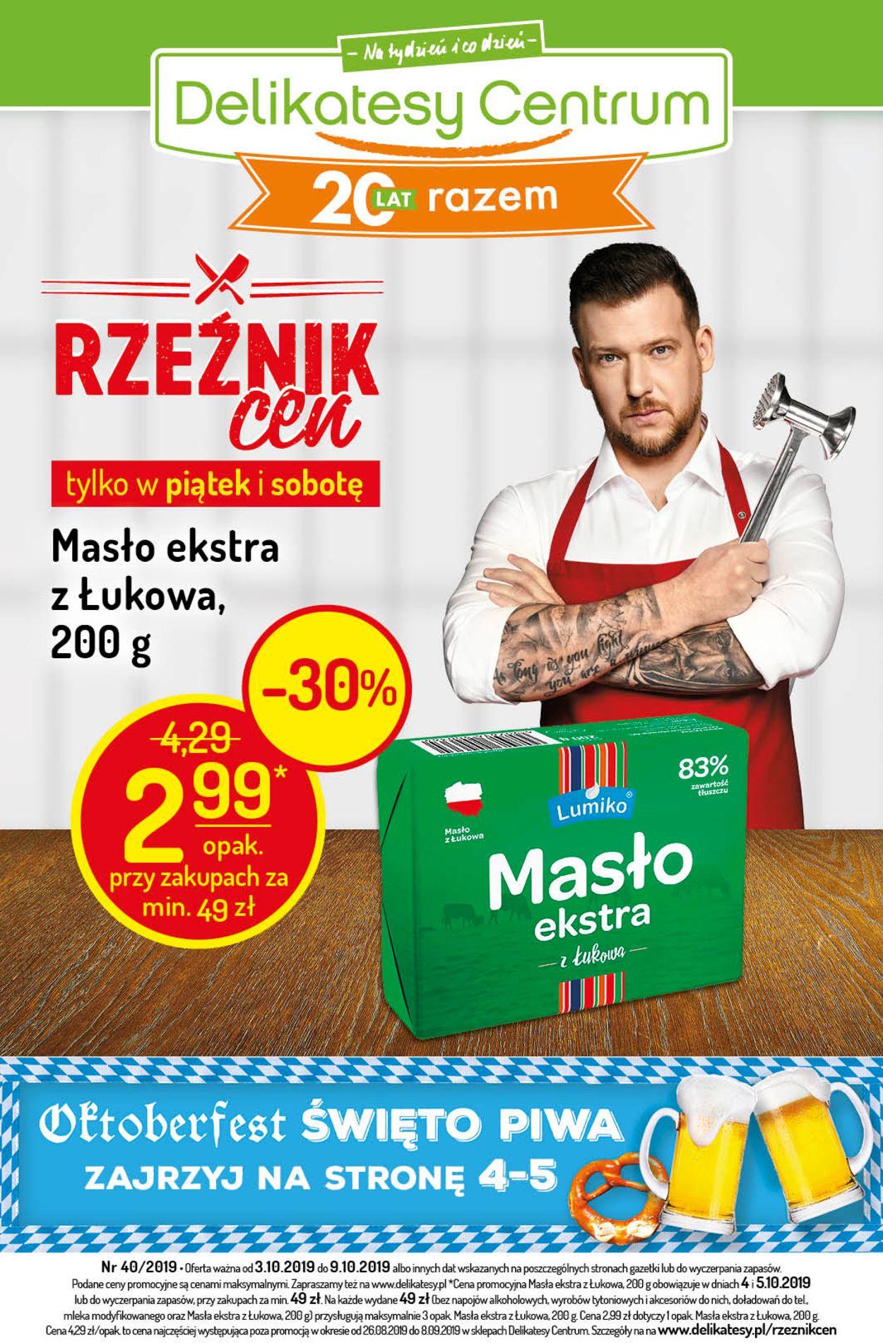 Gazetka promocyjna Delikatesy Centrum - 03.10-09.10.2019