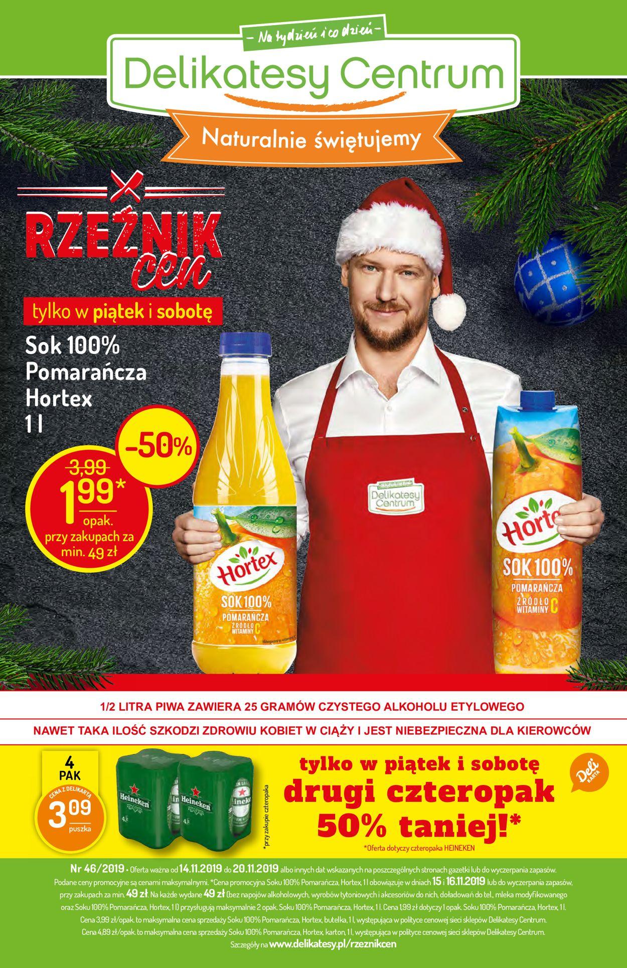 Gazetka promocyjna Delikatesy Centrum - 14.11-20.11.2019