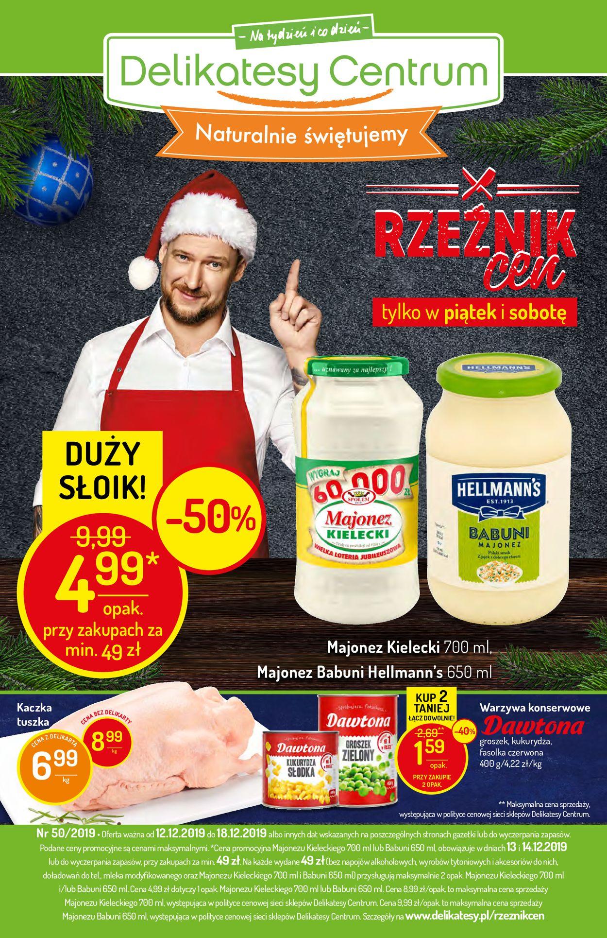 Gazetka promocyjna Delikatesy Centrum - Gazetka Świąteczna 2019 - 12.12-18.12.2019