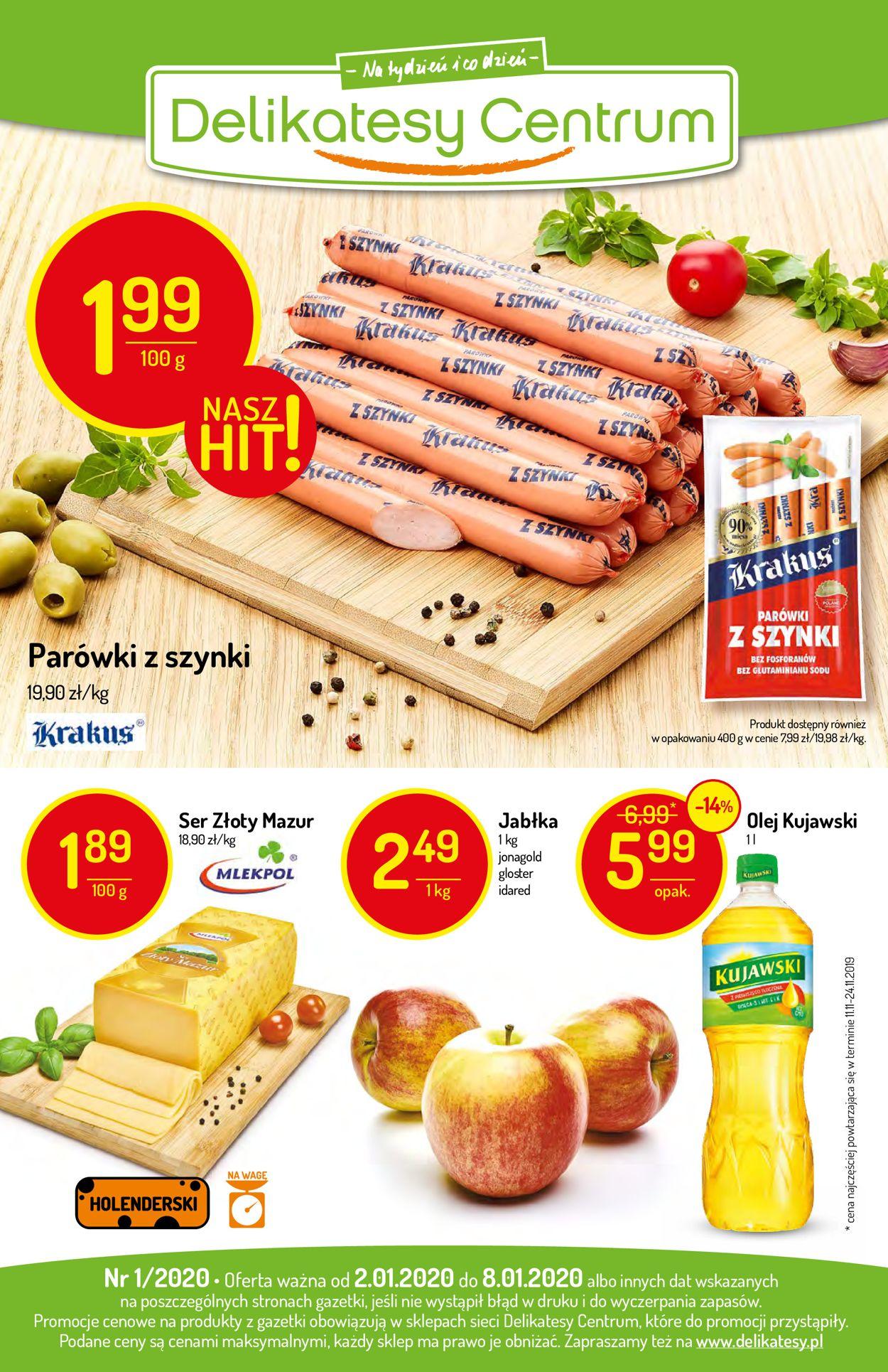 Gazetka promocyjna Delikatesy Centrum - 02.01-08.01.2020 (Strona 20)