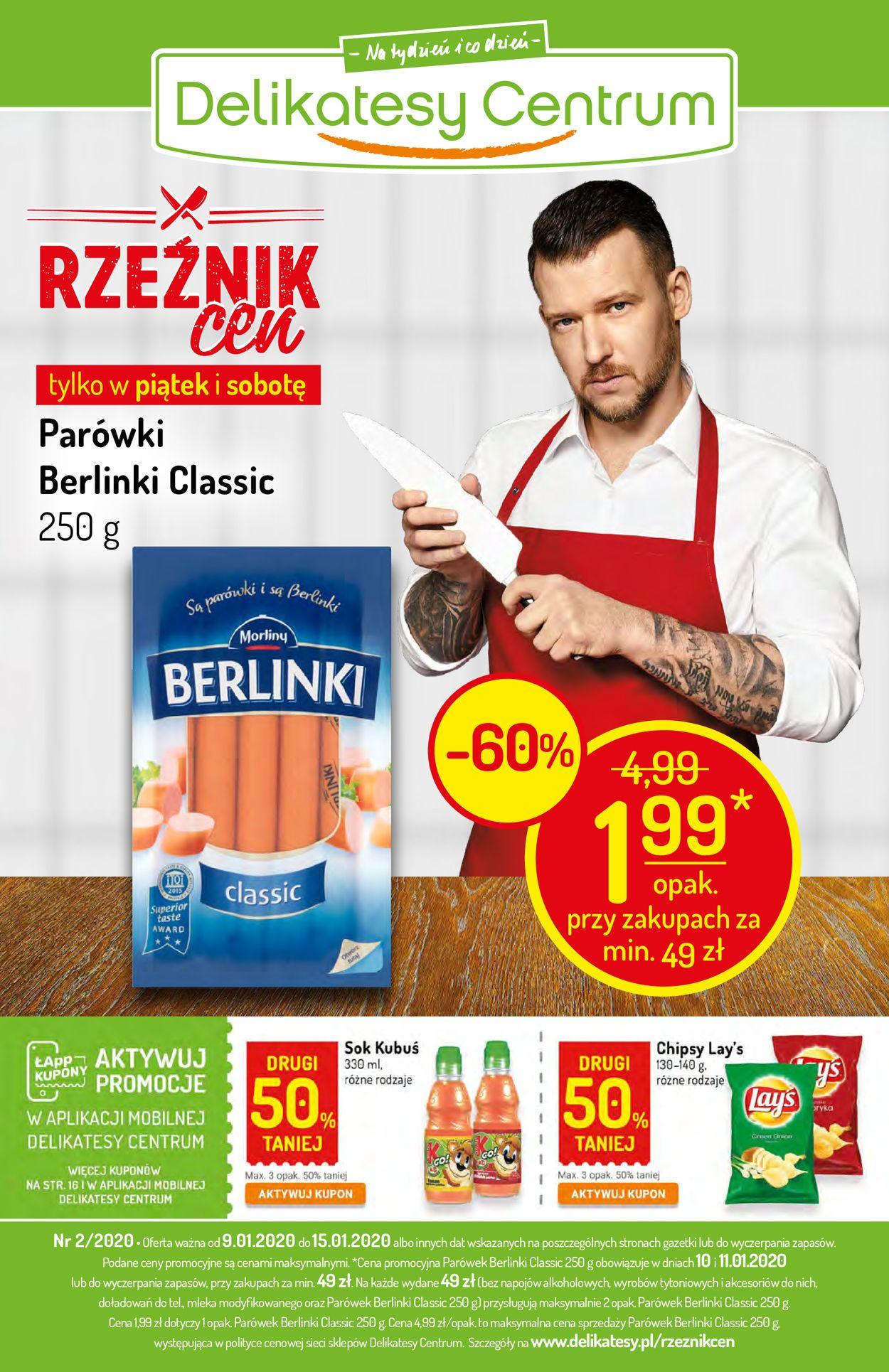 Gazetka promocyjna Delikatesy Centrum - 09.01-15.01.2020