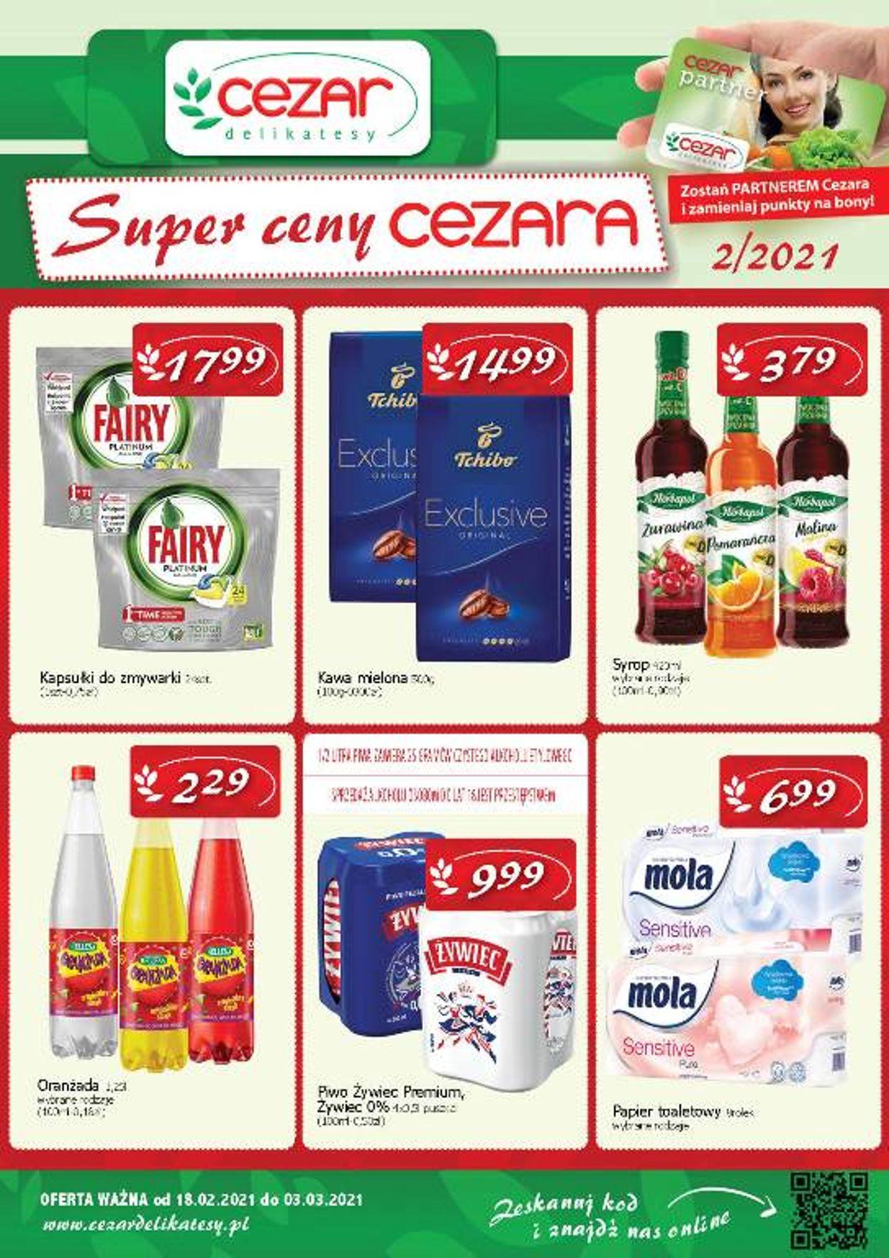 Gazetka promocyjna Delikatesy Cezar - 18.02-03.03.2021